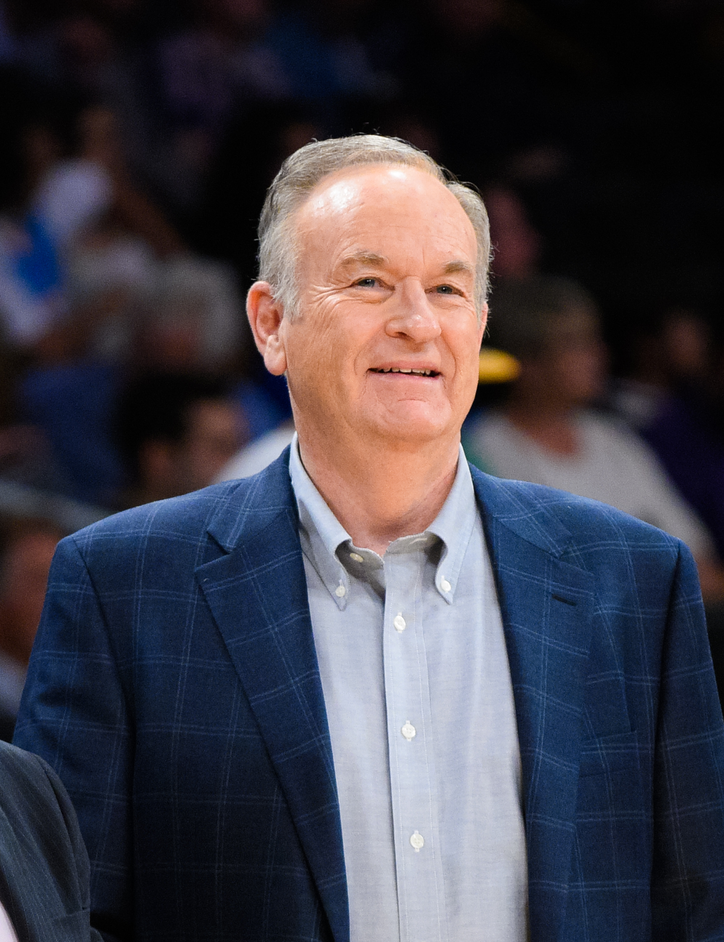 Bill O'Reilly attends a basketball game between the Denver Nuggets and the Los Angeles Lakers at Staples Center on February 10, 2015 in Los Angeles, California.