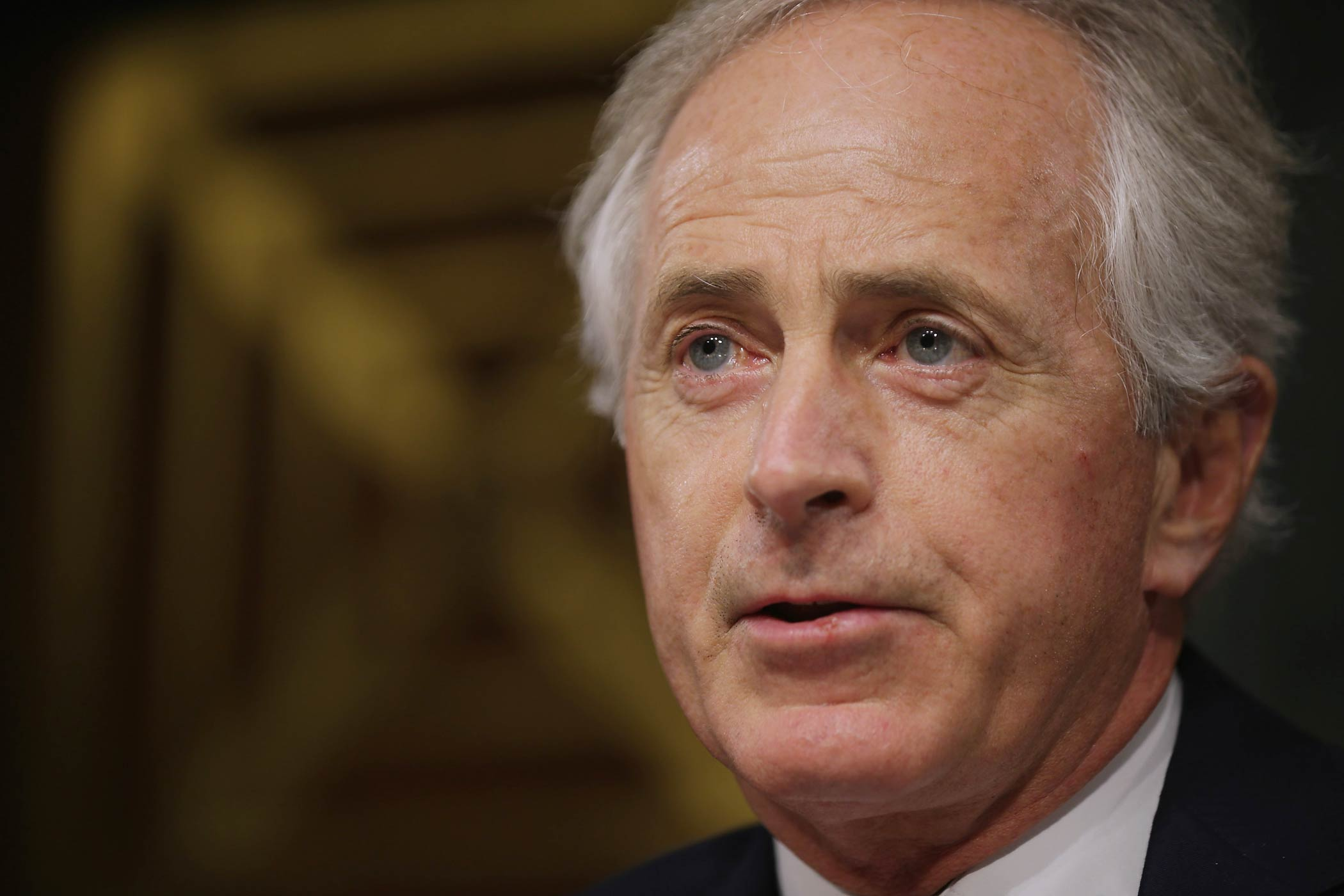 Sen. Bob Corker delivers opening remarks during a hearing in the Dirksen Senate Office Building on Capitol Hill on Dec. 9, 2014 in Washington, DC.