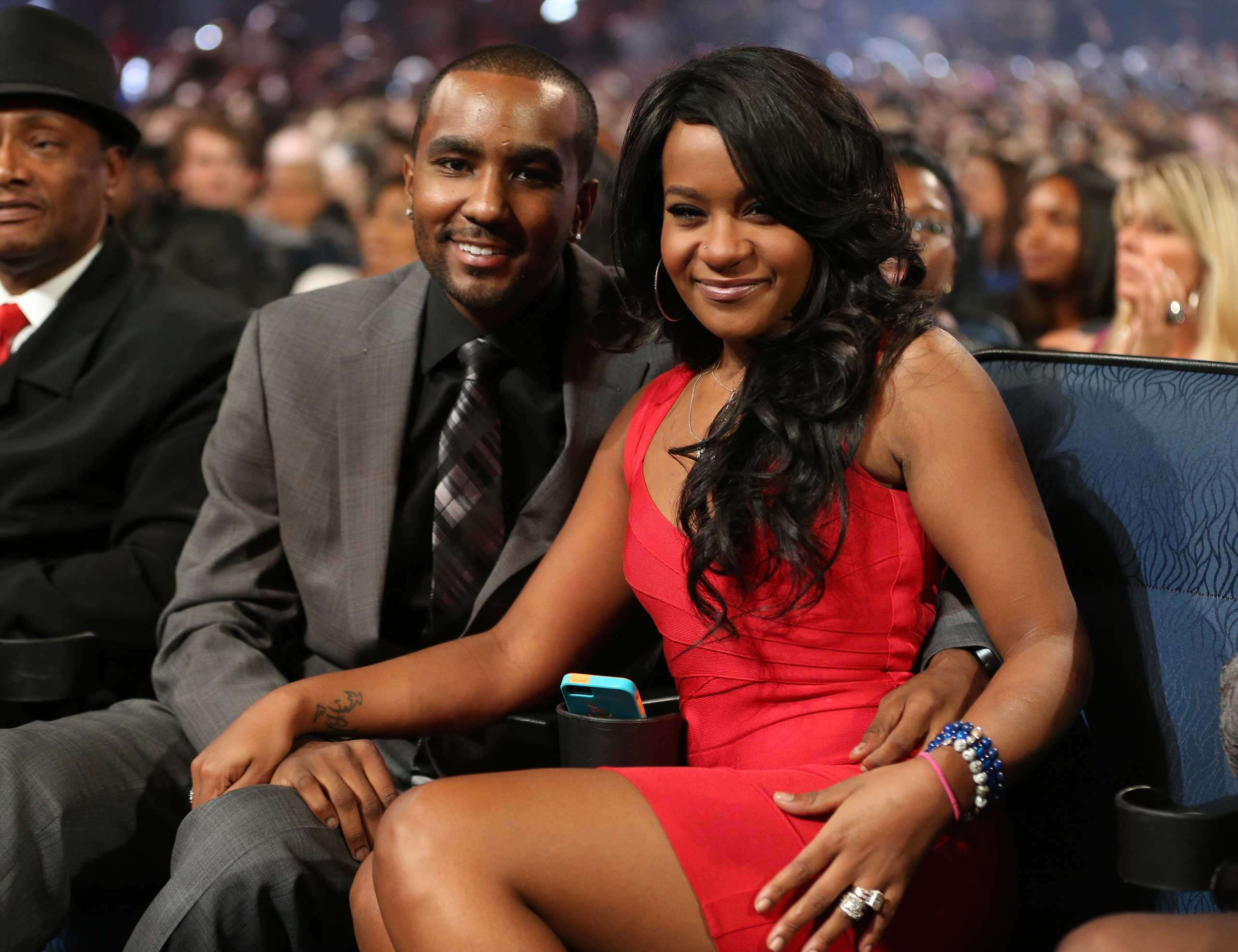 "Nick Gordon and Bobbi Kristina Brown attend ""We Will Always Love You: A GRAMMY Salute to Whitney Houston"" at Nokia Theatre L.A. Live on Oct. 11, 2012 in Los Angeles."