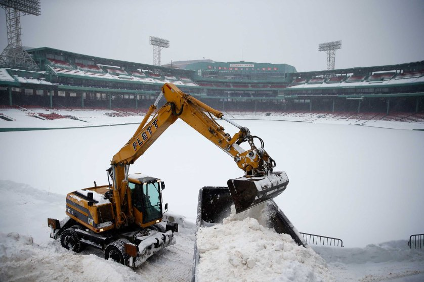 Fenway Park Buried By Heavy Snowfall