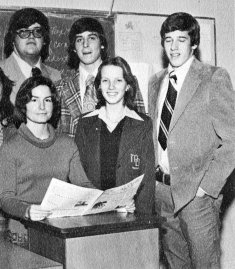 Brian Williams Senior Year 1977Mater Dei High School, New Monmouth, NJAs the Editorial Editor for the school newspaperCredit: Seth Poppel/Yearbook Library