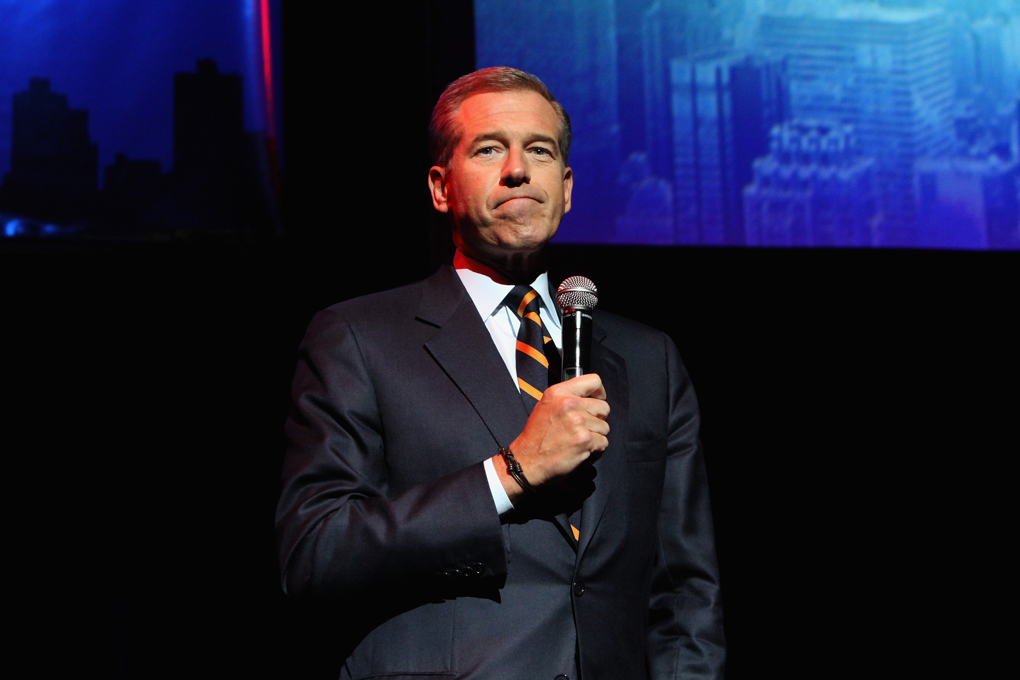 NBC News Anchor Brian Williams speaks onstage at The New York Comedy Festival and The Bob Woodruff Foundation present the 8th Annual Stand Up For Heroes Event at Madison Square Garden on Nov. 5, 2014 in New York City.