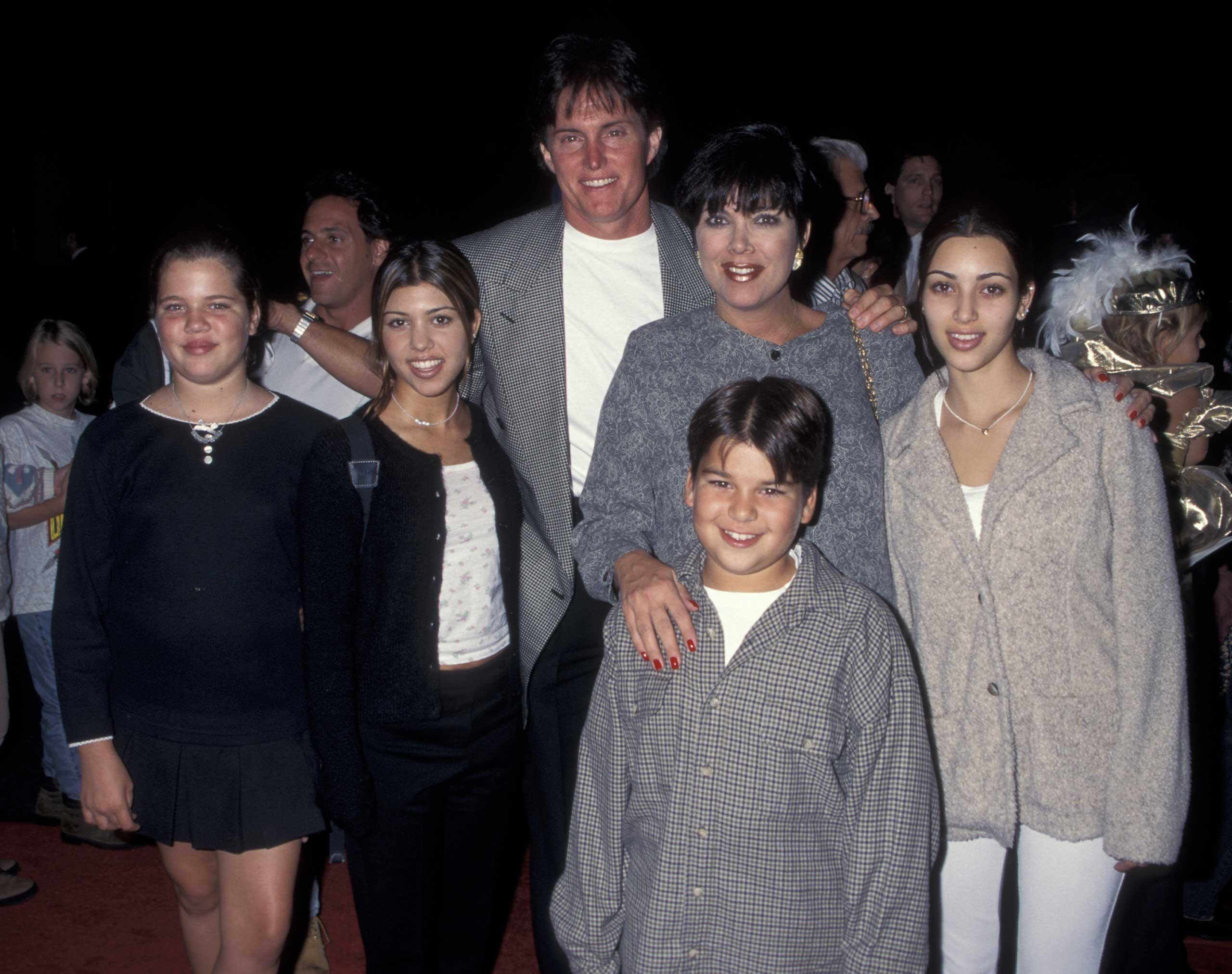 The family poses at an event in 1995, the year Jenner and Kris welcomed the first of their two children together, Kendall Jenner.