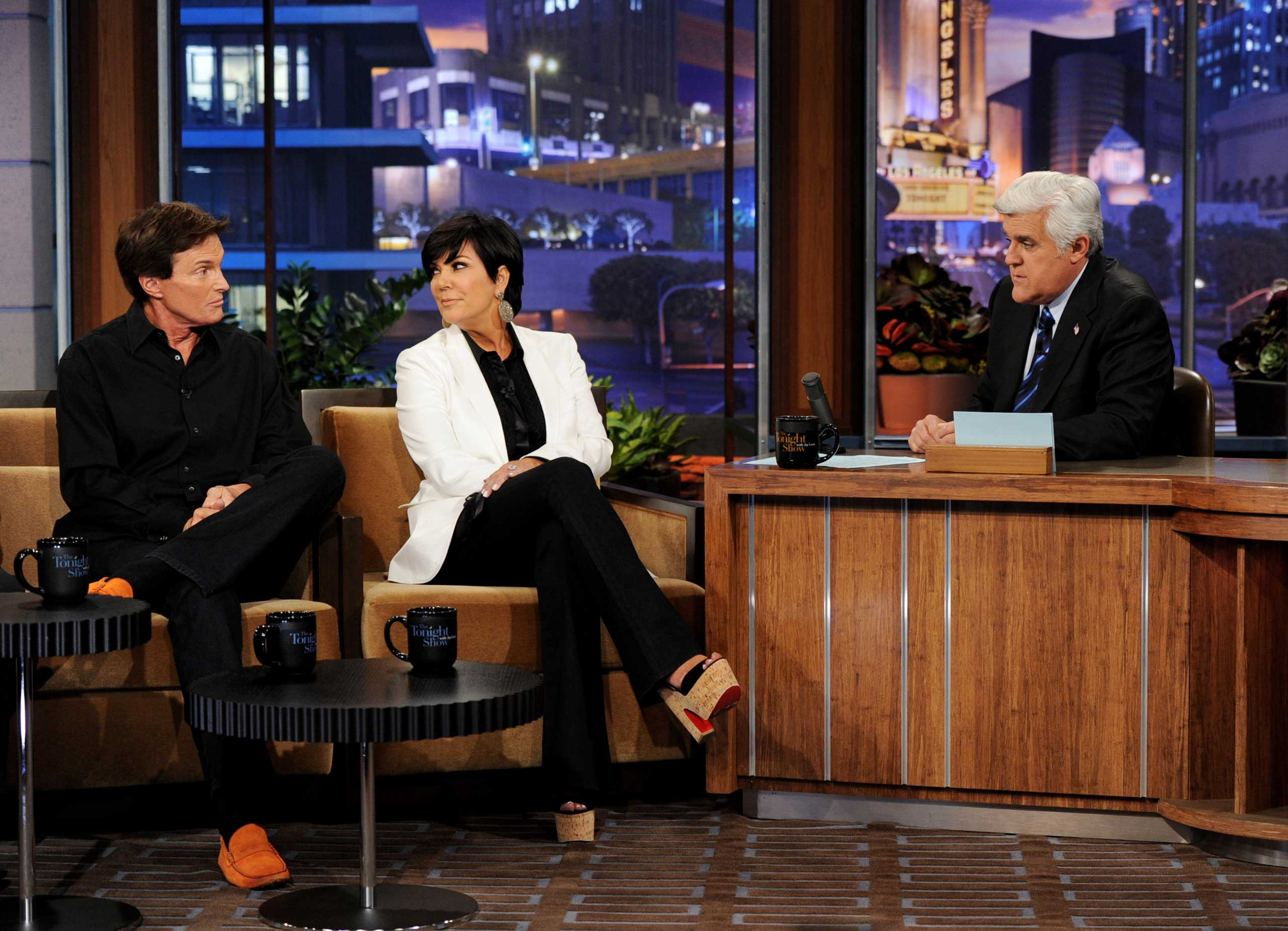 Jenner and Kris, here at <i>The Tonight Show</i> with Jay Leno in 2011, announced their separation in 2013. She filed for divorce the following year.