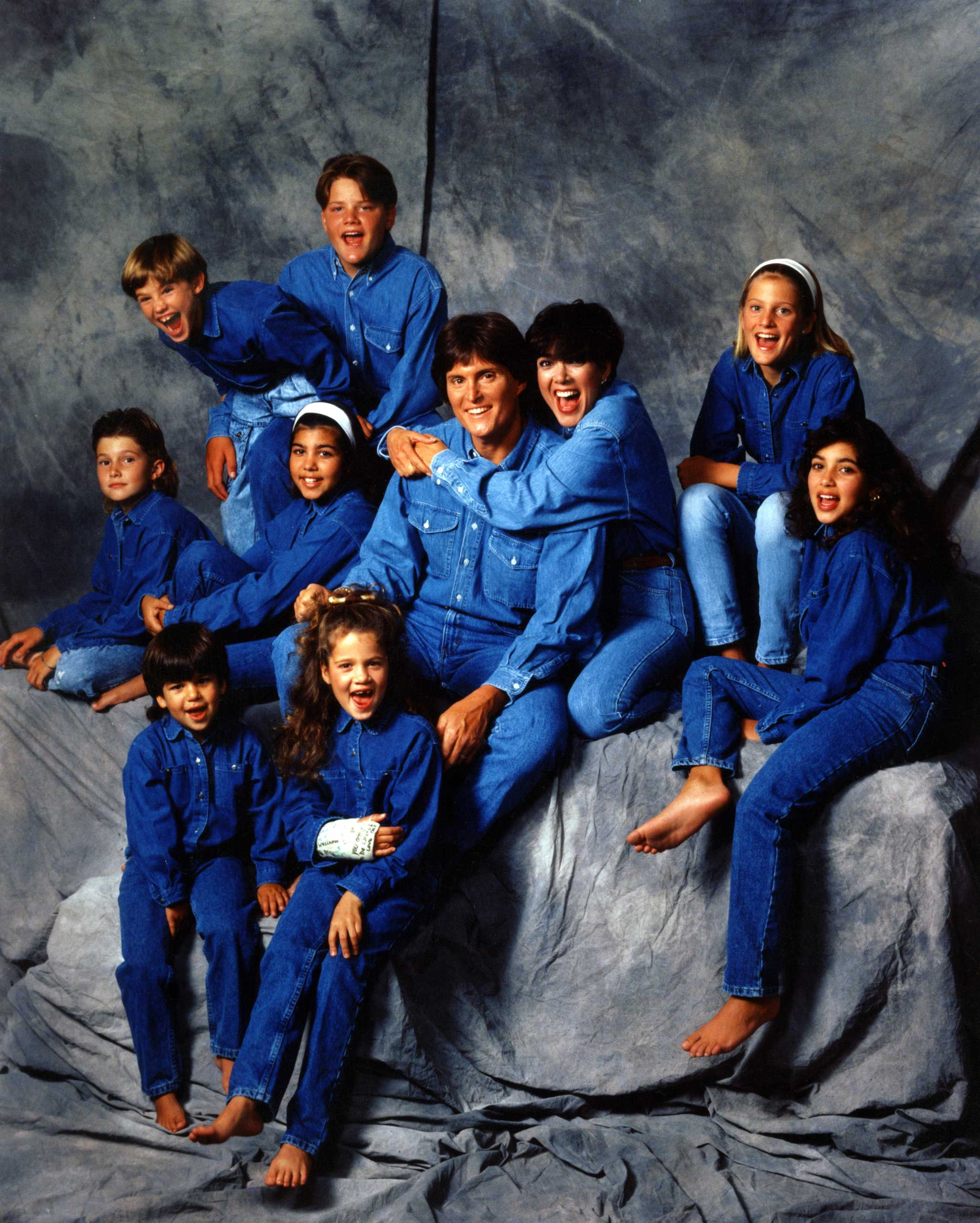 Their marriage merged two already large families, evident here in this 1991 portrait.