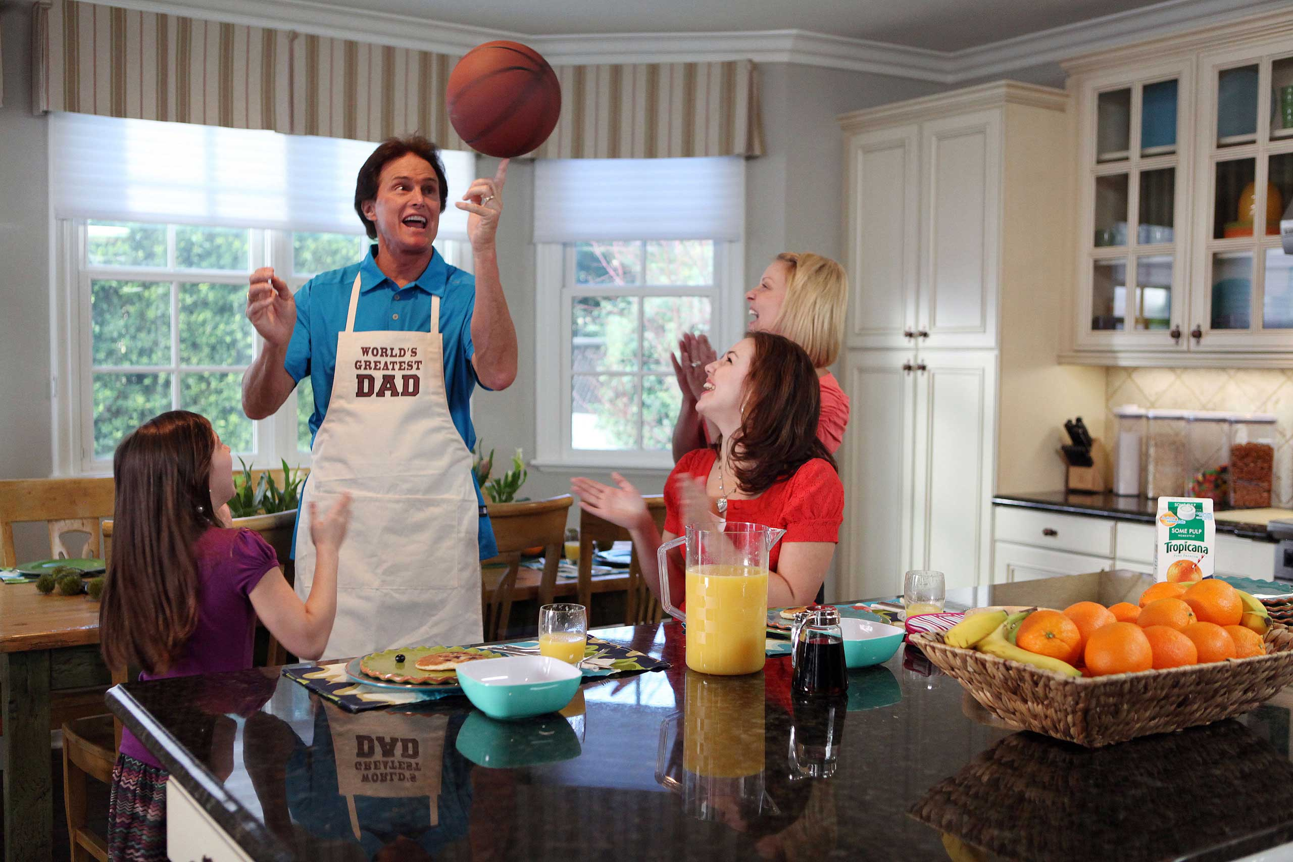 Jenner spoofed his reality-star fame with a commercial for Tropicana Juicy Rewards in 2010.
