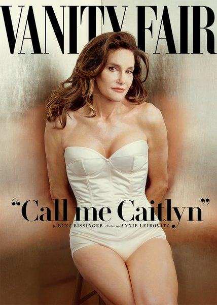 Caitlyn Jenner, formerly Bruce Jenner, appeared as a woman for the first time on the cover of <i>Vanity Fair</i>'s June 2015 issue, photographed by Annie Leibovitz.