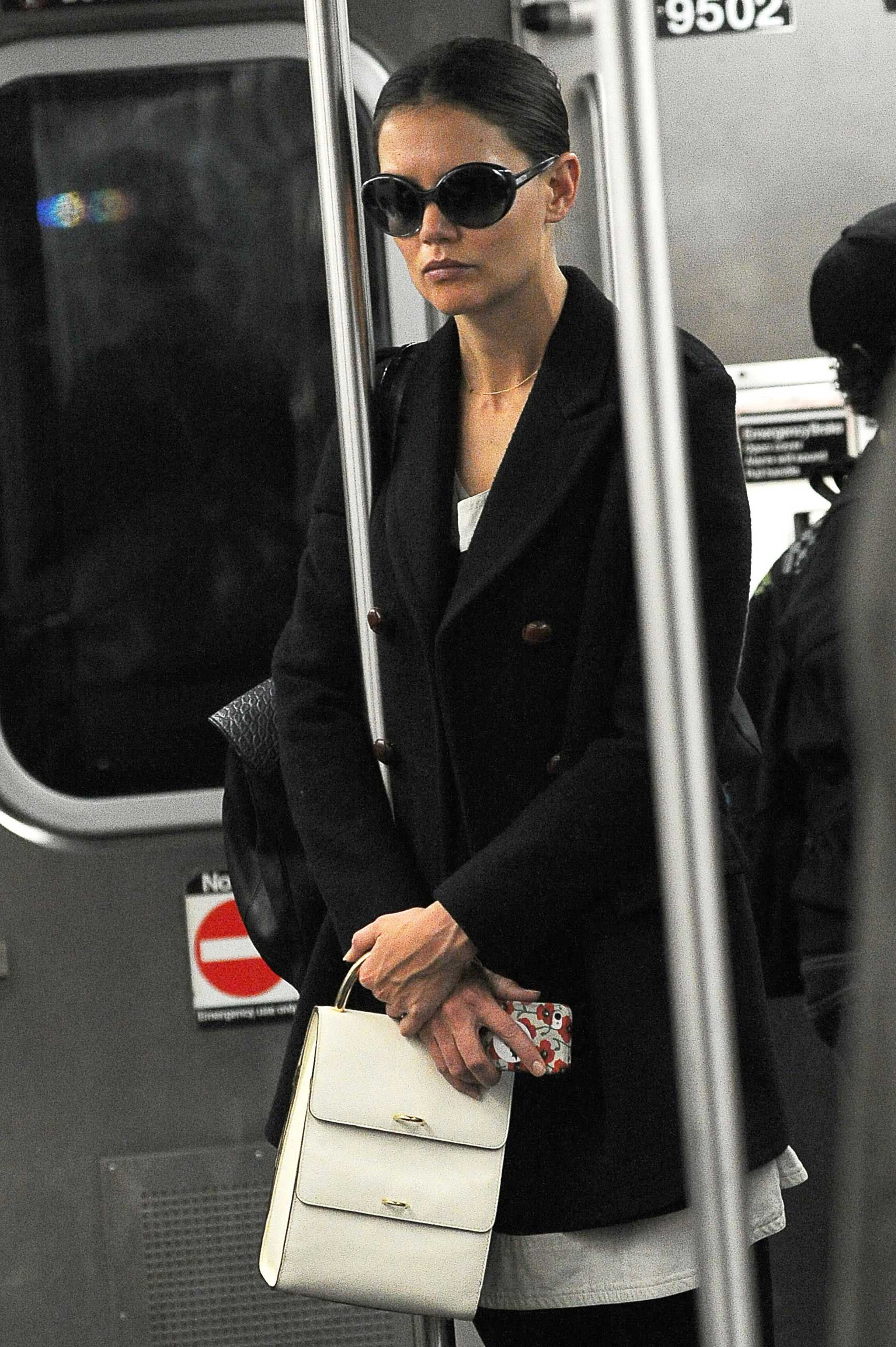 Katie Holmes rides the subway in New York City on Oct. 15, 2012.