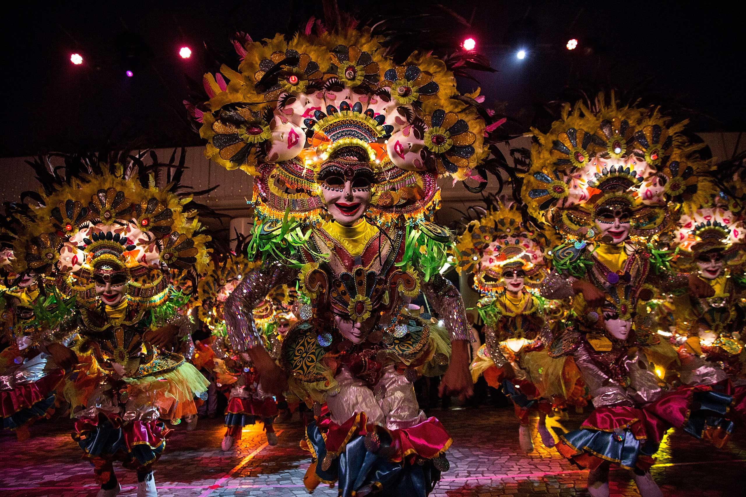Performers dance at the 2015 Cathay Pacific International Chinese New Year Night Parade on Feb. 19, 2015 in Hong Kong.