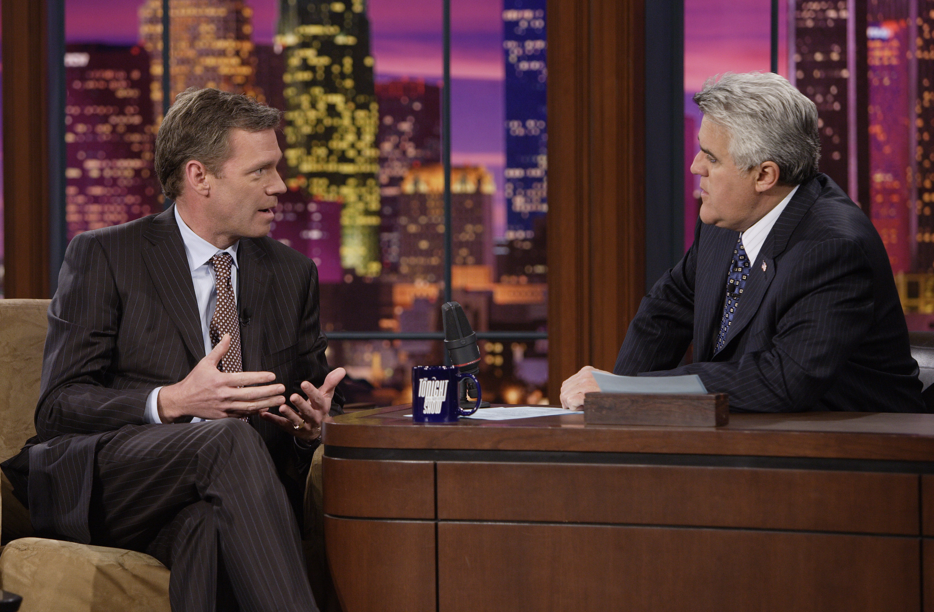 Chris Hansen during an interview with Jay Leno on March 2, 2007.