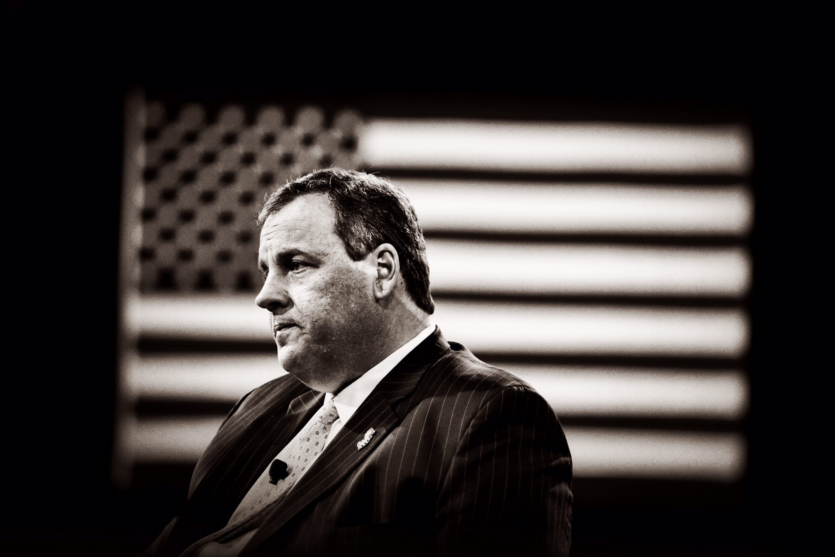 New Jersey governor Chris Christie on stage at CPAC in National Harbor, Md. on Feb. 26, 2015.