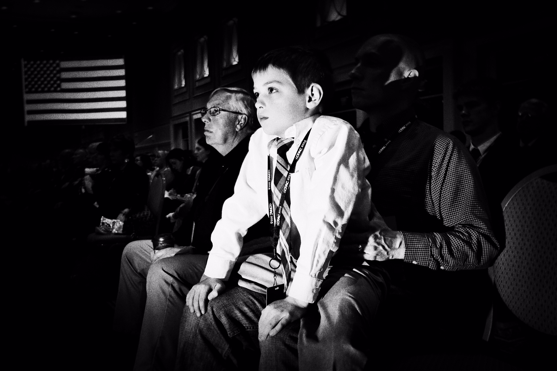 Nine year old Thomas H. from Virginia at his first CPAC in National Harbor, Md. on Feb. 27, 2015.