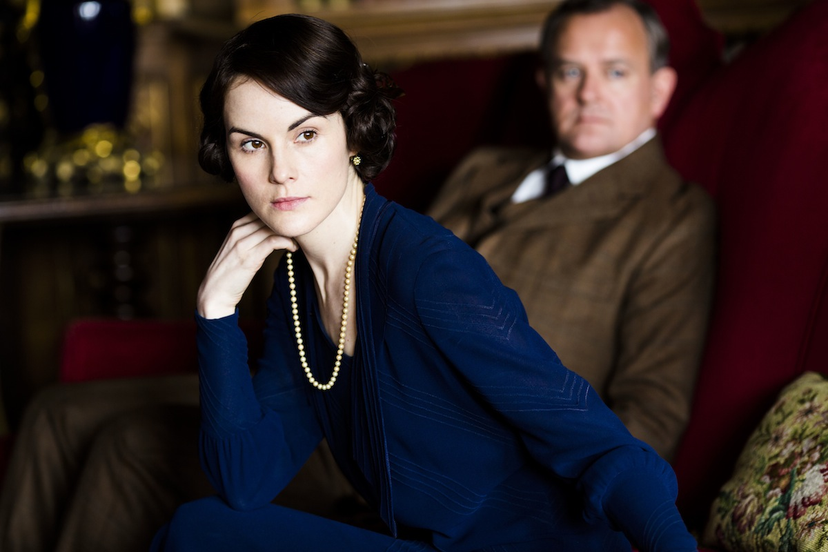 Michelle Dockery as Lady Mary and Hugh Bonneville as Lord Grantham
