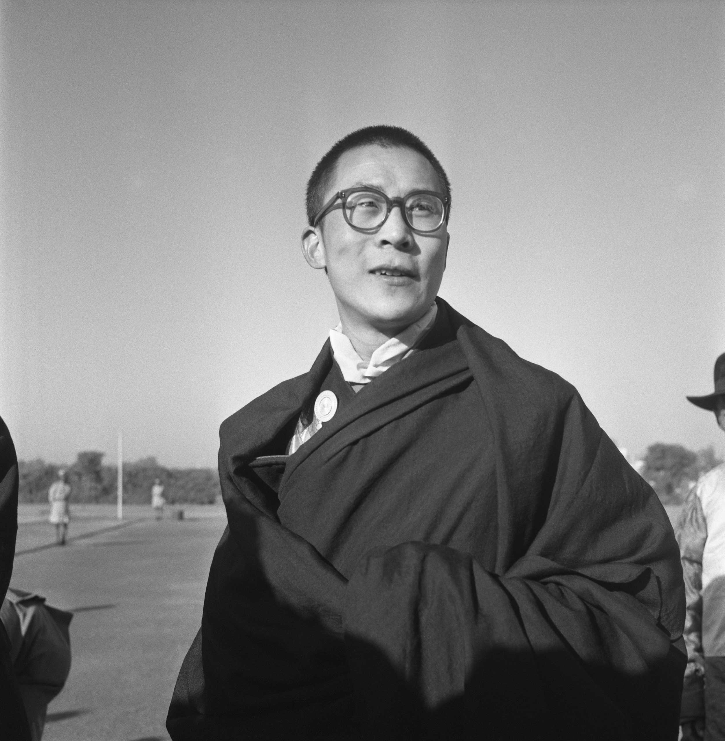 The Dalai Lama pictured in India circa 1965.