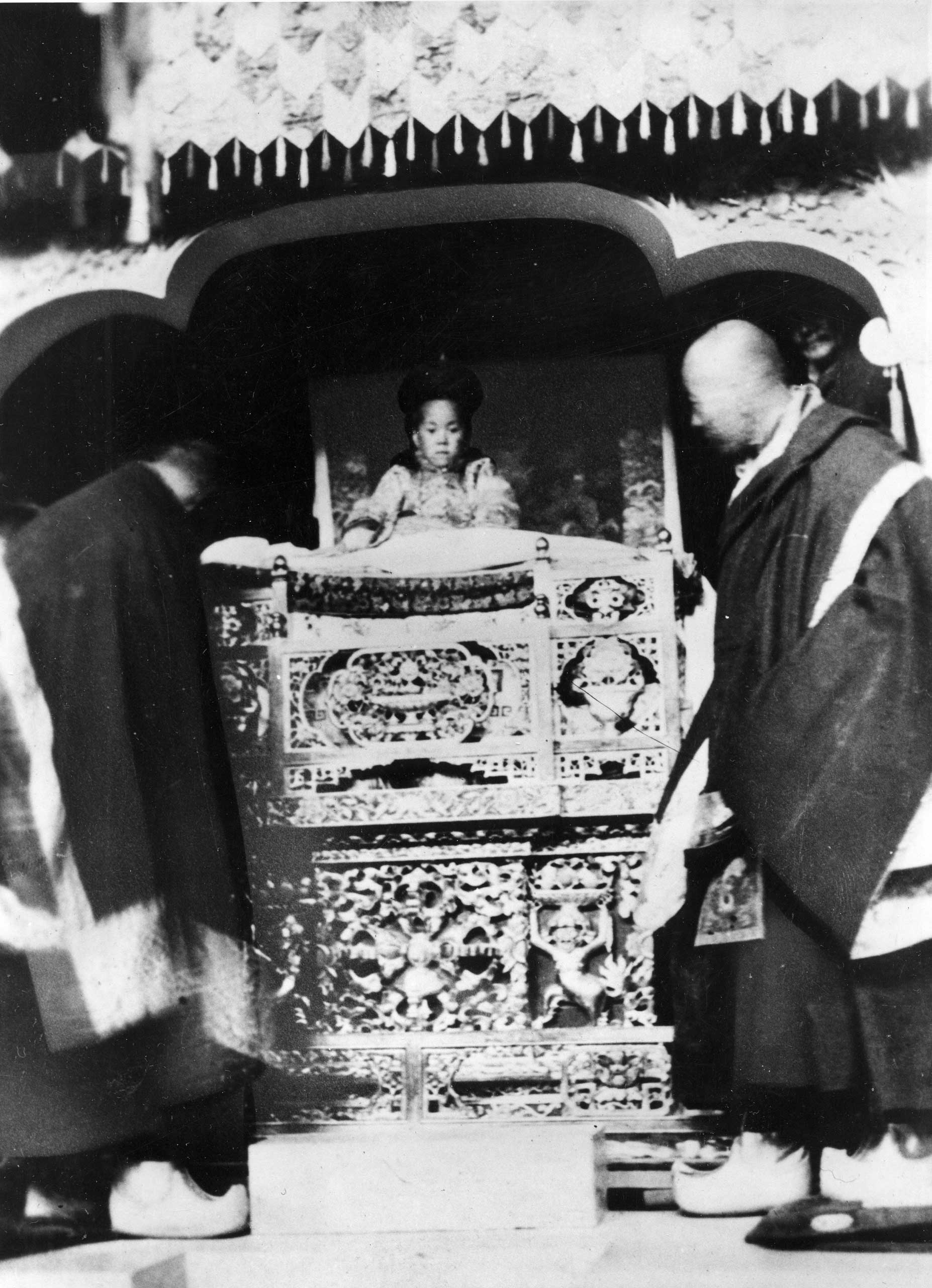 The 14th Dalai Lama at his enthronement in Lhasa, Tibet, Feb. 22, 1940.