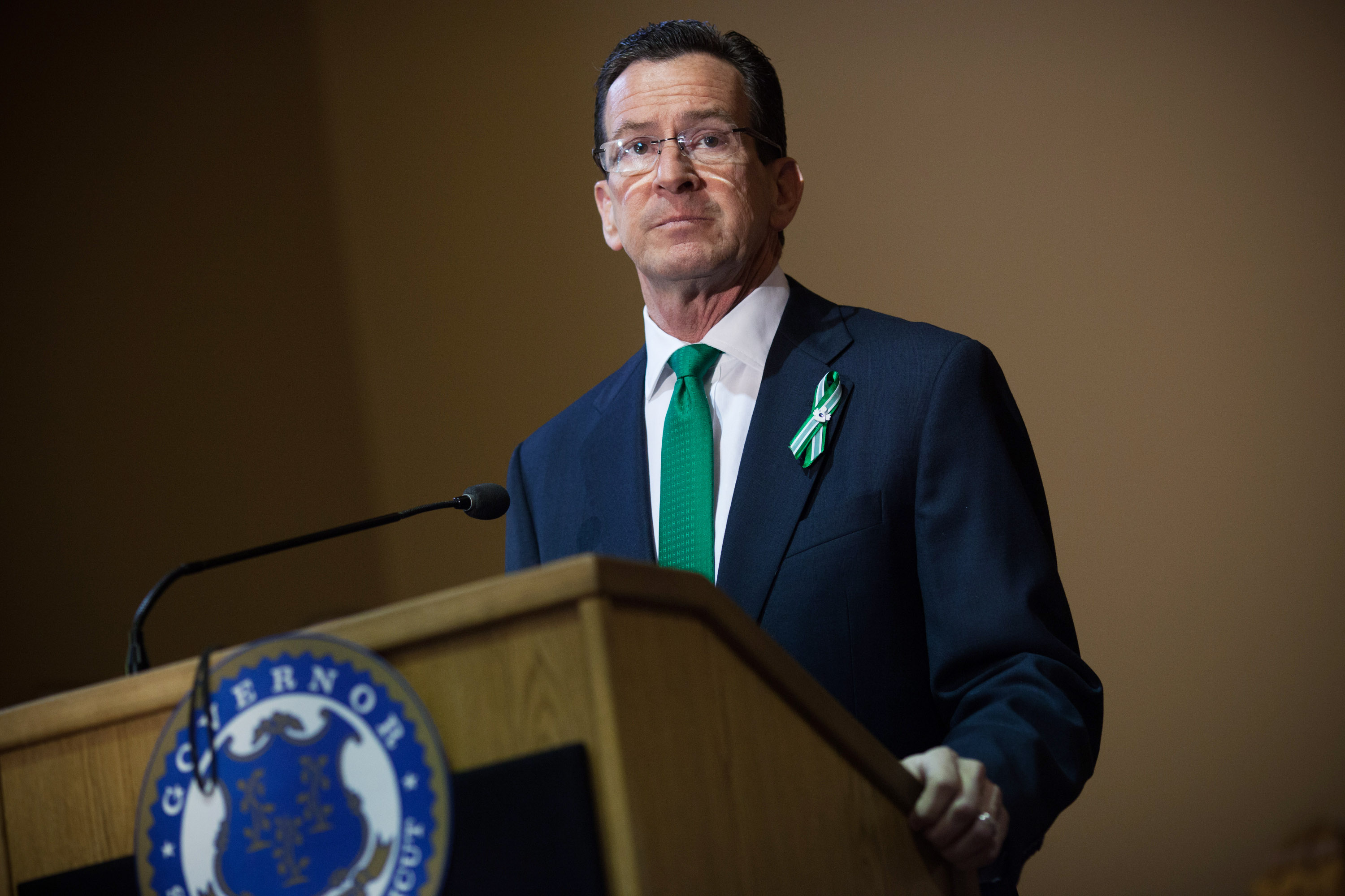Connecticut Governor Dannel Malloy speaks during the gun-control-law-signing event at the Connecticut Capitol on April 4, 2013, in Hartford, Conn.