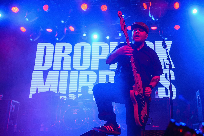 The Dropkick Murphys performs on stage at Sala La Riviera on Feb. 16, 2015 in Madrid.