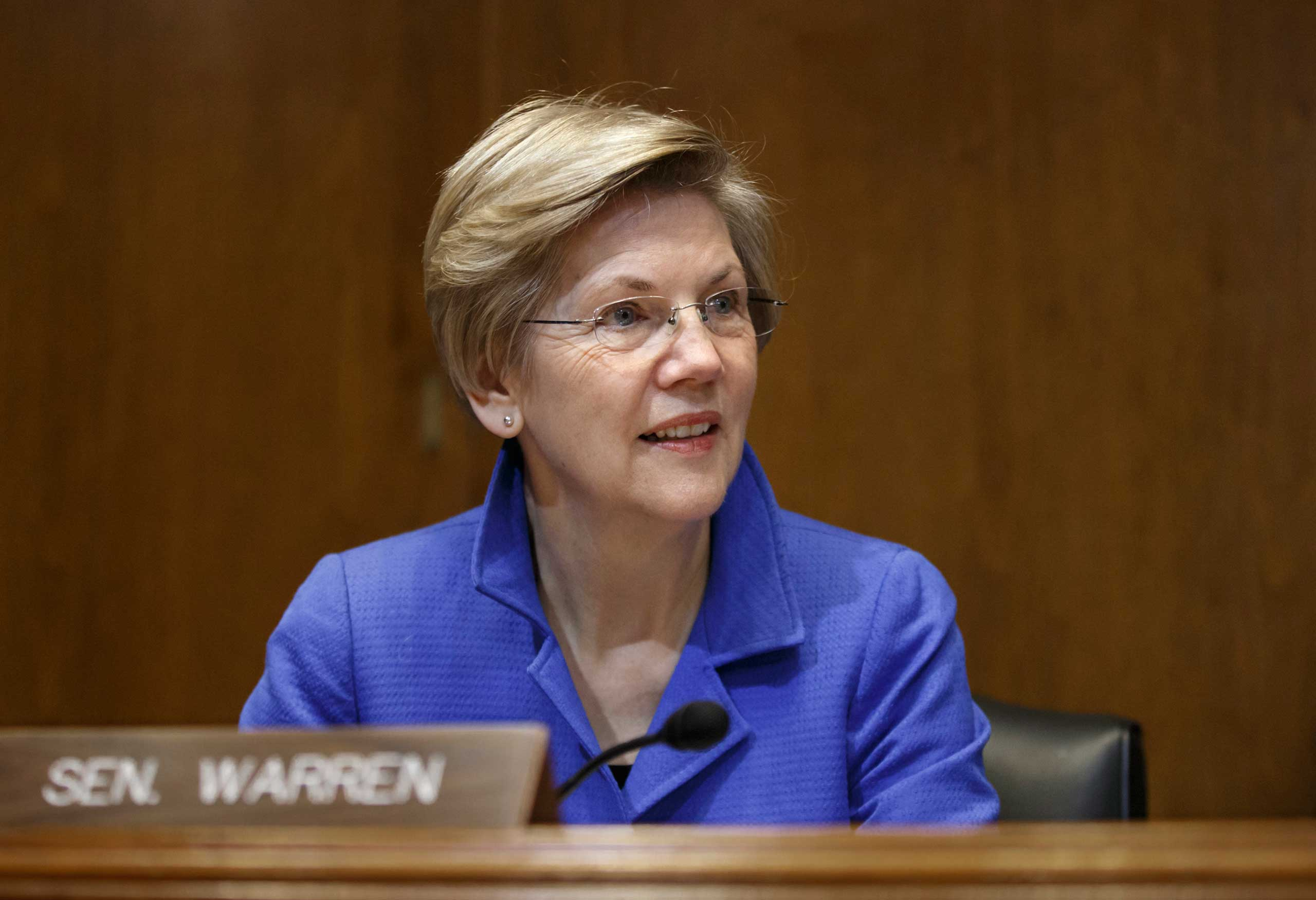 Sen. Elizabeth Warren is seen on Capitol Hill in Washington on Jan. 8, 2015.