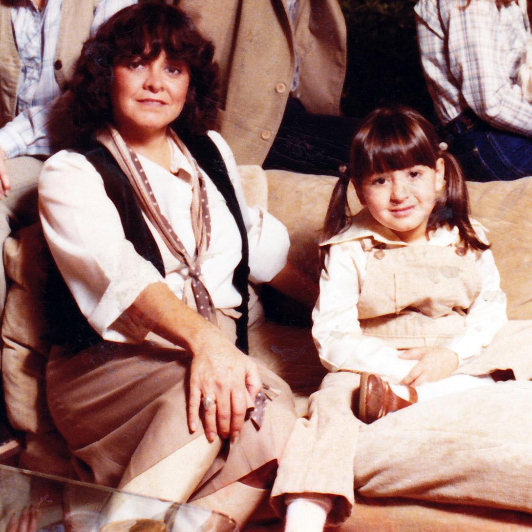 Camille and Lynsey Addario circa 1976