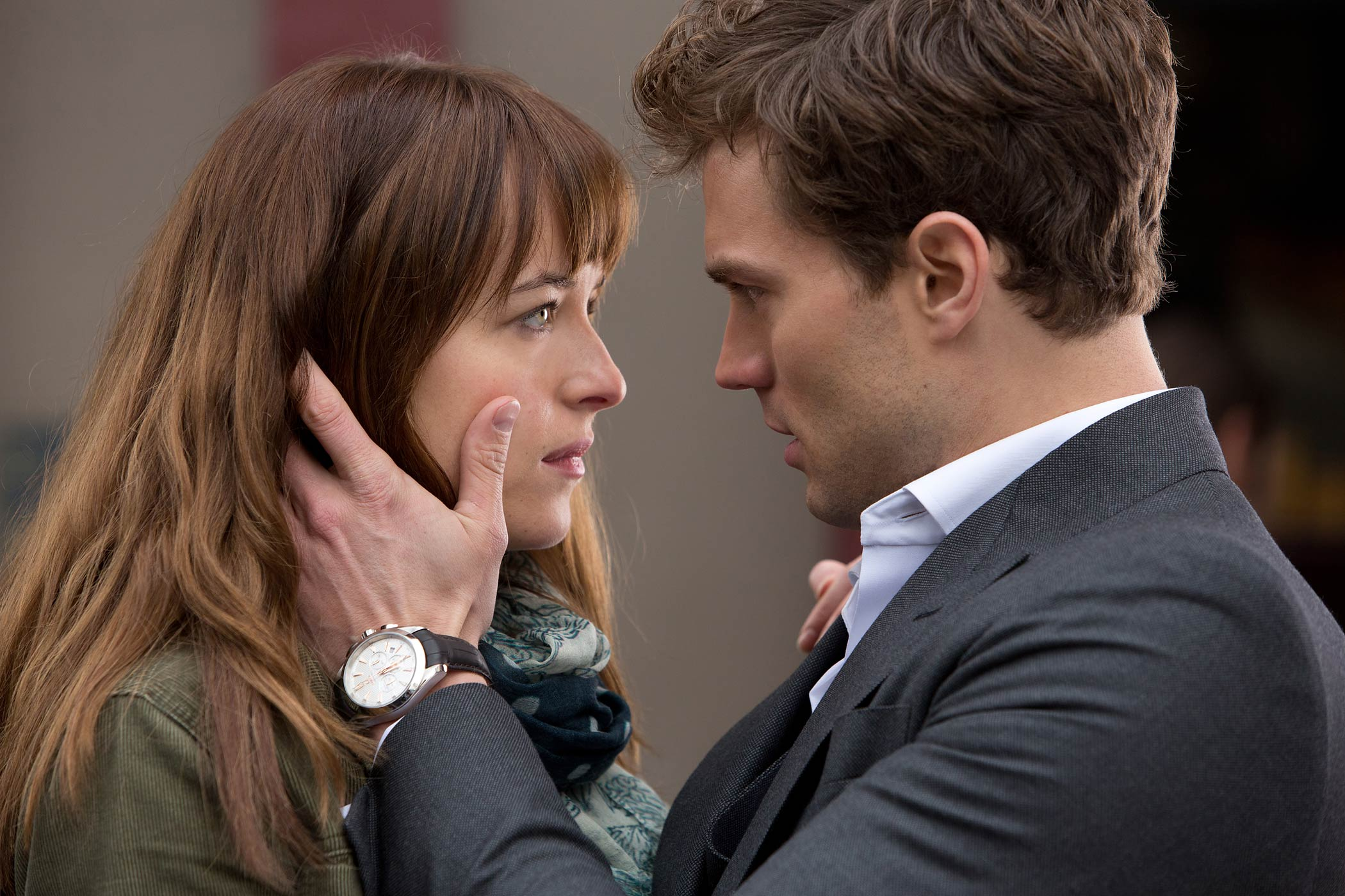 Dakota Johnson and James Dornan star in Fifty Shades of Grey