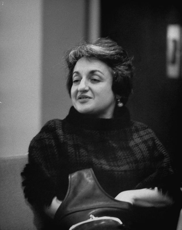 Betty Friedan pictured in 1965