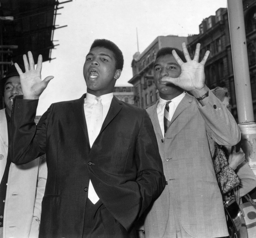 """Ali with his brother Rahaman, 1963                               Rahaman Ali: """"We could see the greatness in him when he was 12. The way he moved. He was great, even as a small child. He was a happy, jolly, gay, beautiful, kind, sweet person. He was loving of everyone, black or white. He taught me to love all kinds of people. He protected me. He never tried to hurt me. He was always gentle, a big sweetheart. As small children, we predicted we'd one day be here. We're just grateful to God.                                Rahaman Ali is Muhammad's younger brother."""