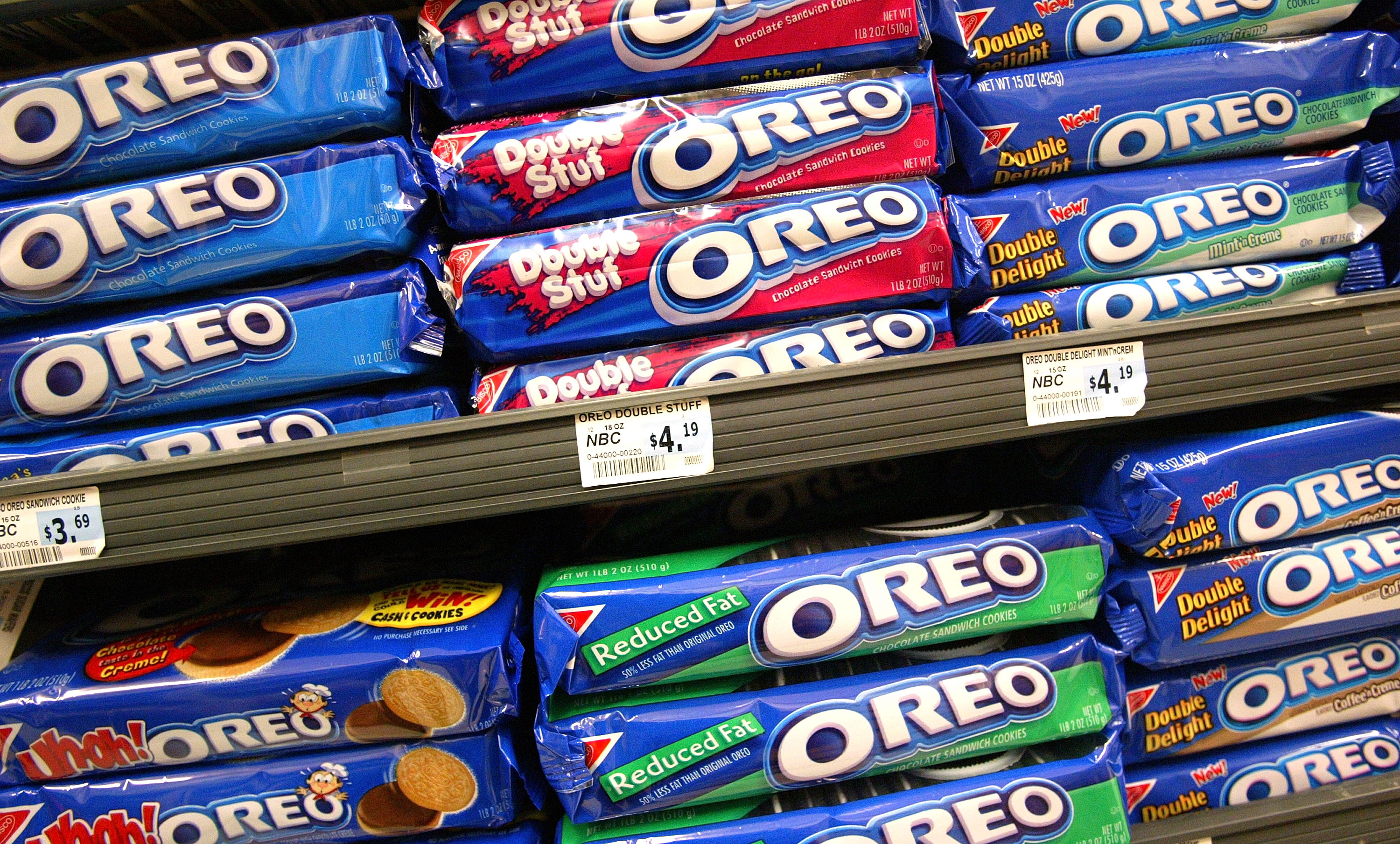 Oreo Cookies are seen May 13, 2003 in San Francisco.