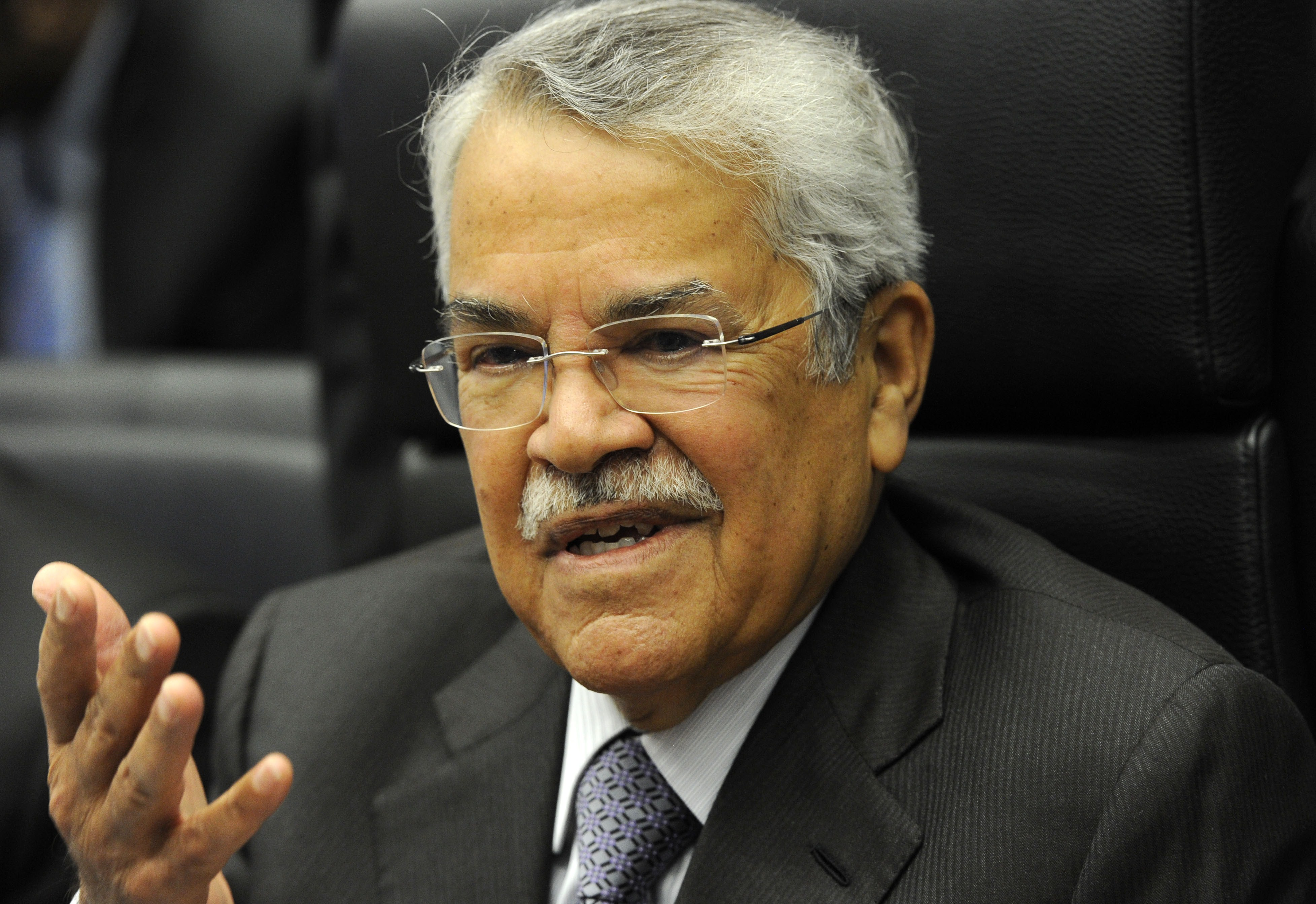 Saudi Oil Minister Ali al-Naimi speaks to journalists ahead of the 166th ordinary meeting of the Organization of the Petroleum Exporting Countries (OPEC) in Vienna, Austria on Nov. 27, 2014.