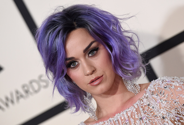 Katy Perry arrives at the 57th Annual Grammy Awards at the Staples Center in Los Angeles on Feb. 8, 2015