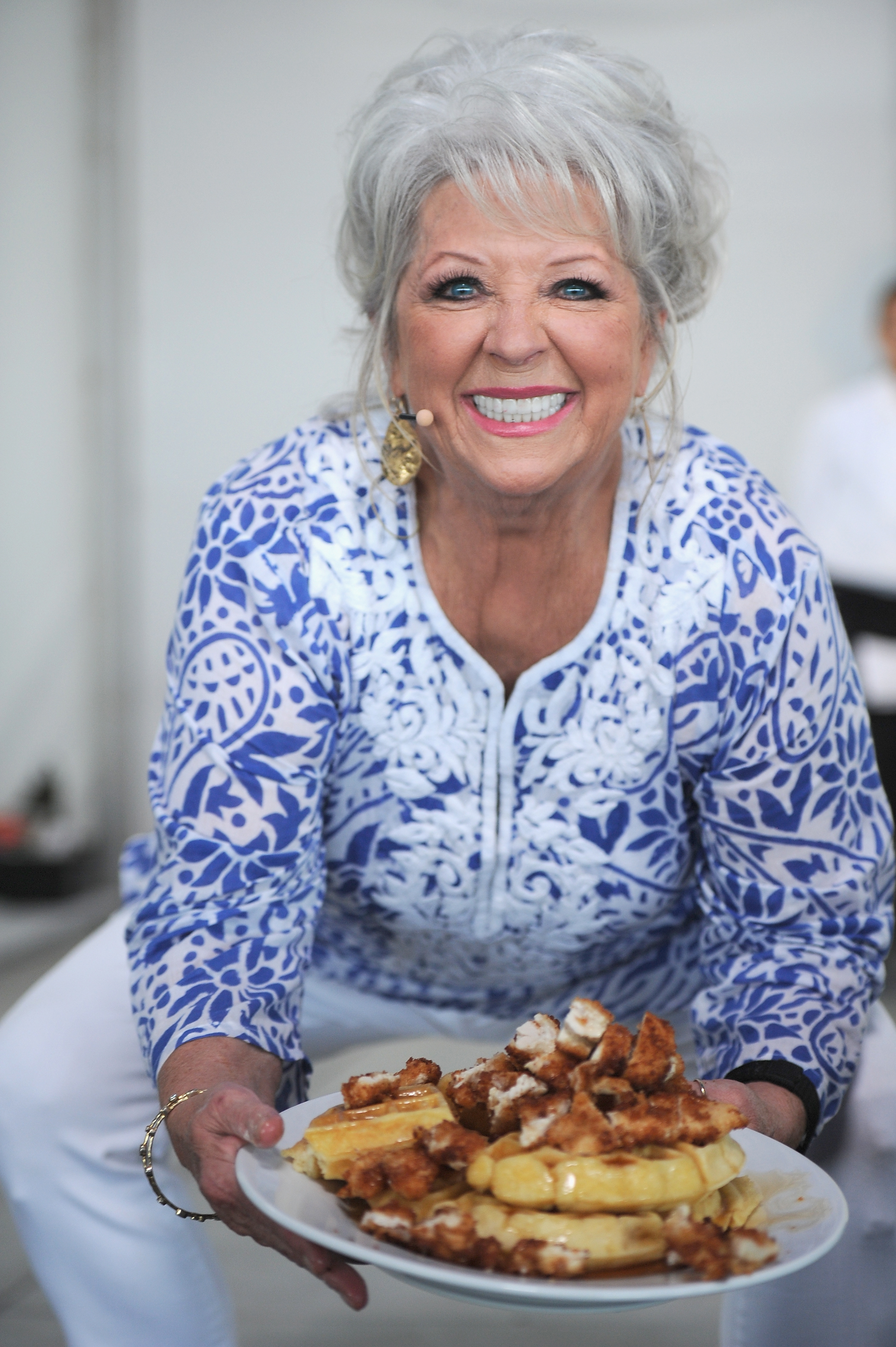Paula Deen attends the Whole Foods Market Grand Tasting Village during the 2015 Food Network and Cooking Channel South Beach Wine and Food Festival on February 22, 2015 in Miami Beach, Florida.