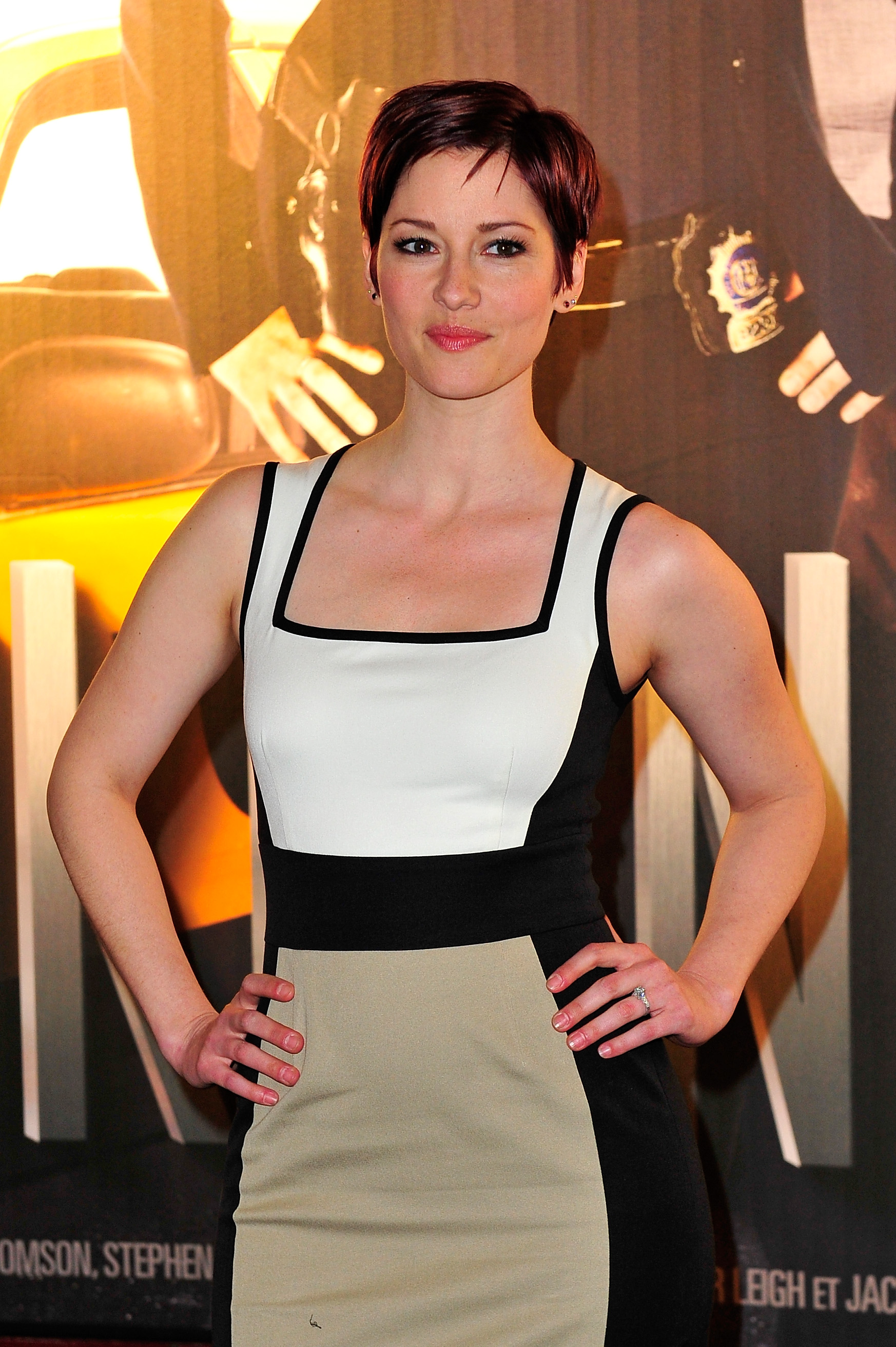 Chyler Leigh attends the 'Taxi Brooklyn' Paris premiere in Paris on March 10, 2014.