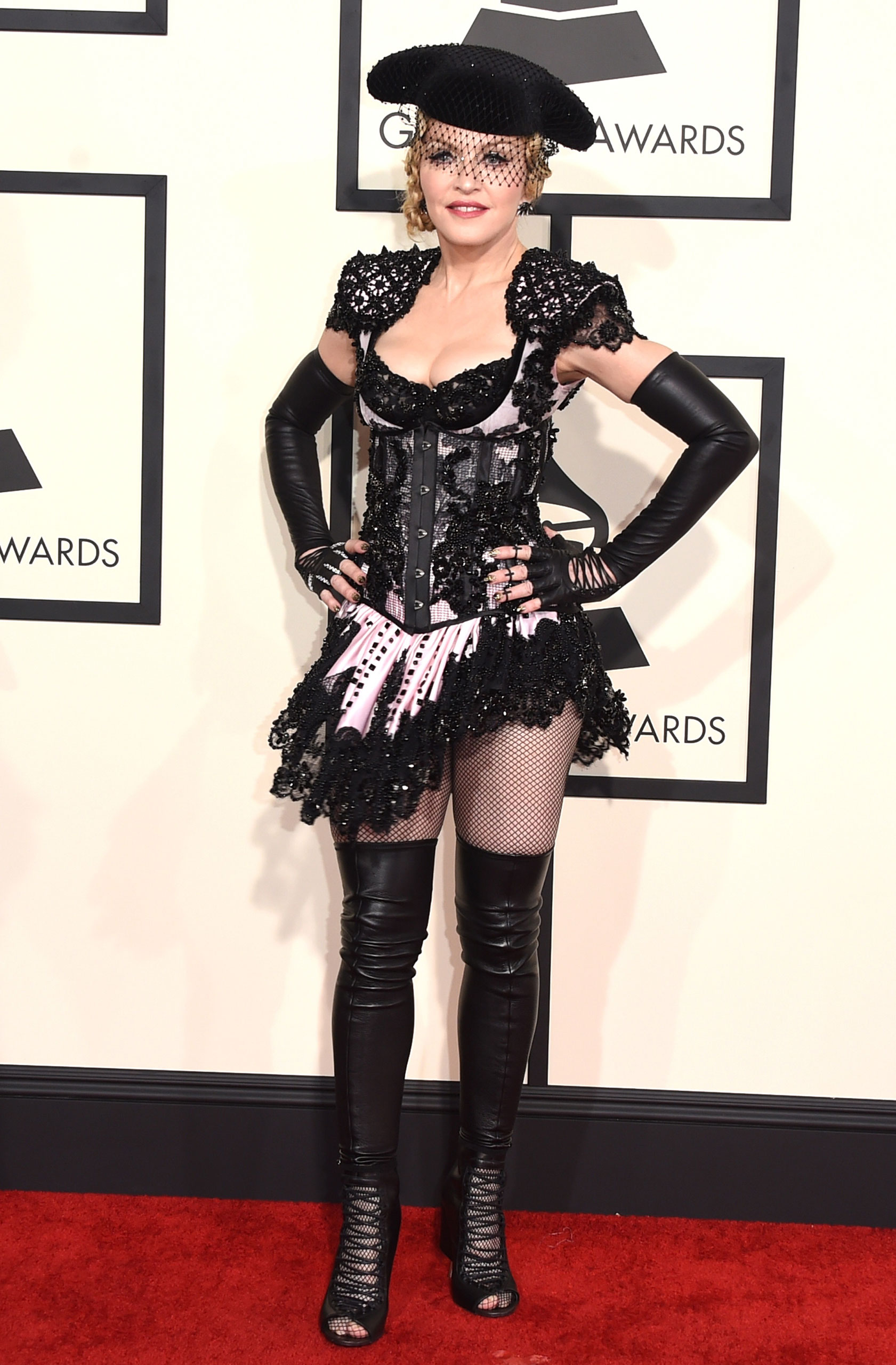 Madonna attends the 57th Annual Grammy Awards at the Staples Center on Feb. 8, 2015 in Los Angeles, Calif.
