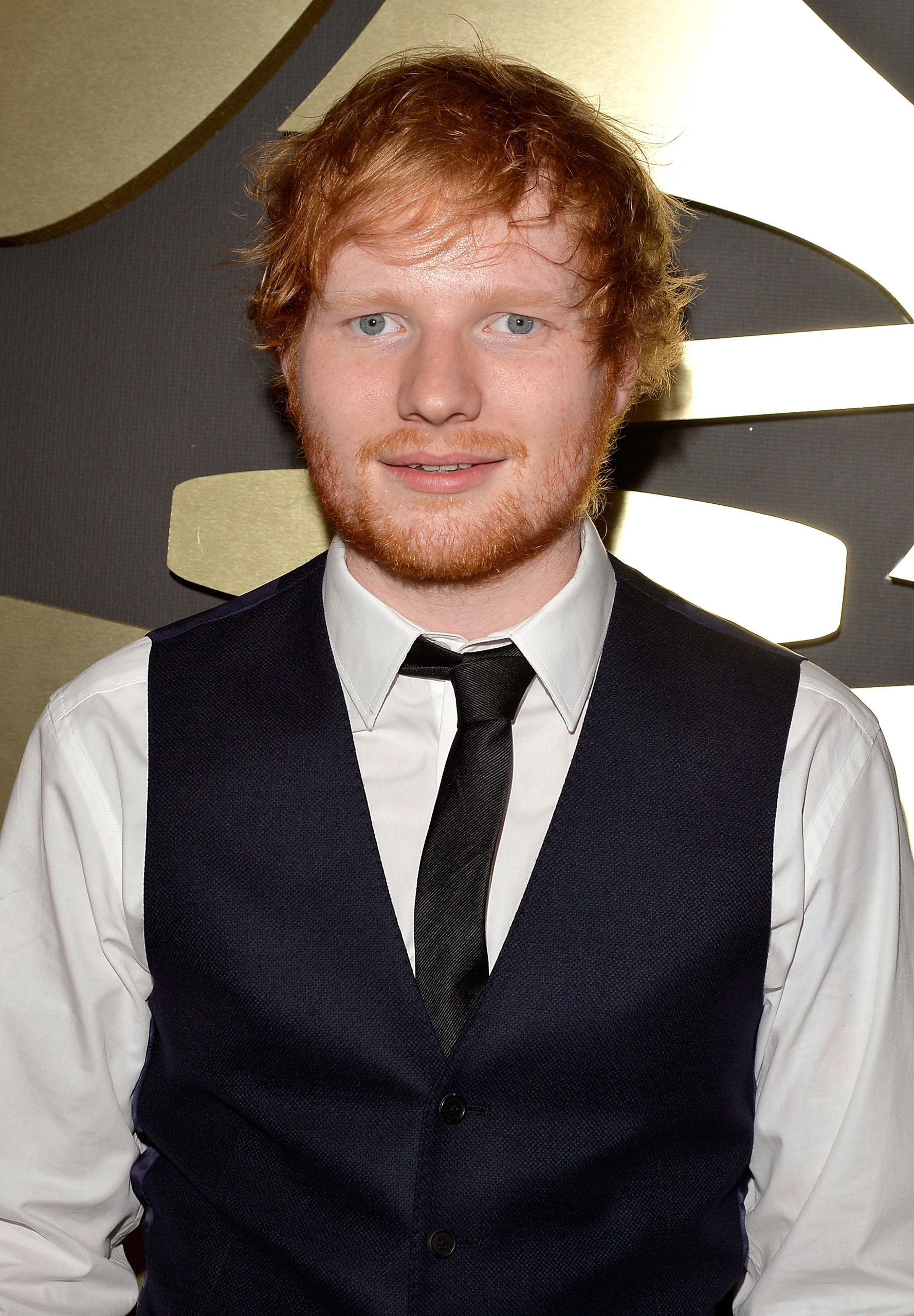 Ed Sheeran attends the 57th annual GRAMMY Awards at the STAPLES Center on February 8, 2015 in Los Angeles, California.