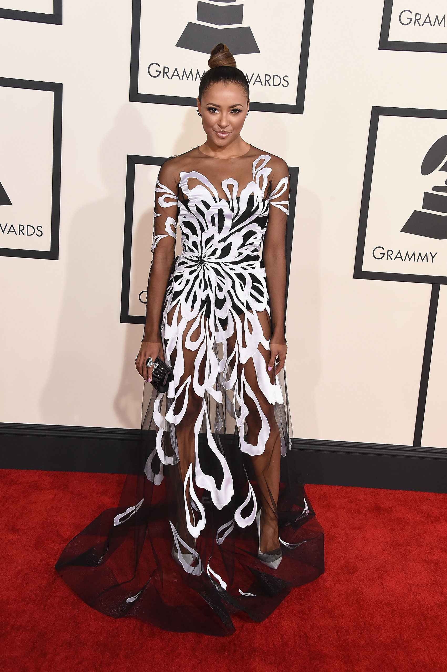 Kat Graham attends the 57th Annual Grammy Awards at the Staples Center on Feb. 8, 2015 in Los Angeles, Calif.
