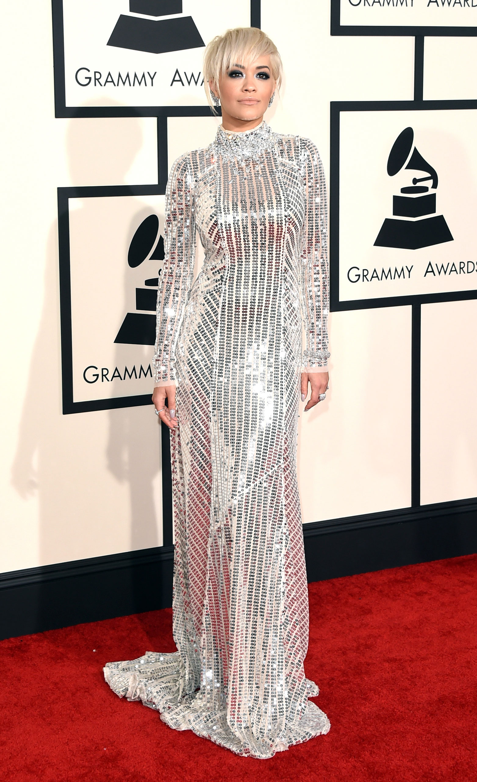 Rita Ora attends the 57th Annual Grammy Awards at the Staples Center on Feb. 8, 2015 in Los Angeles, Calif.