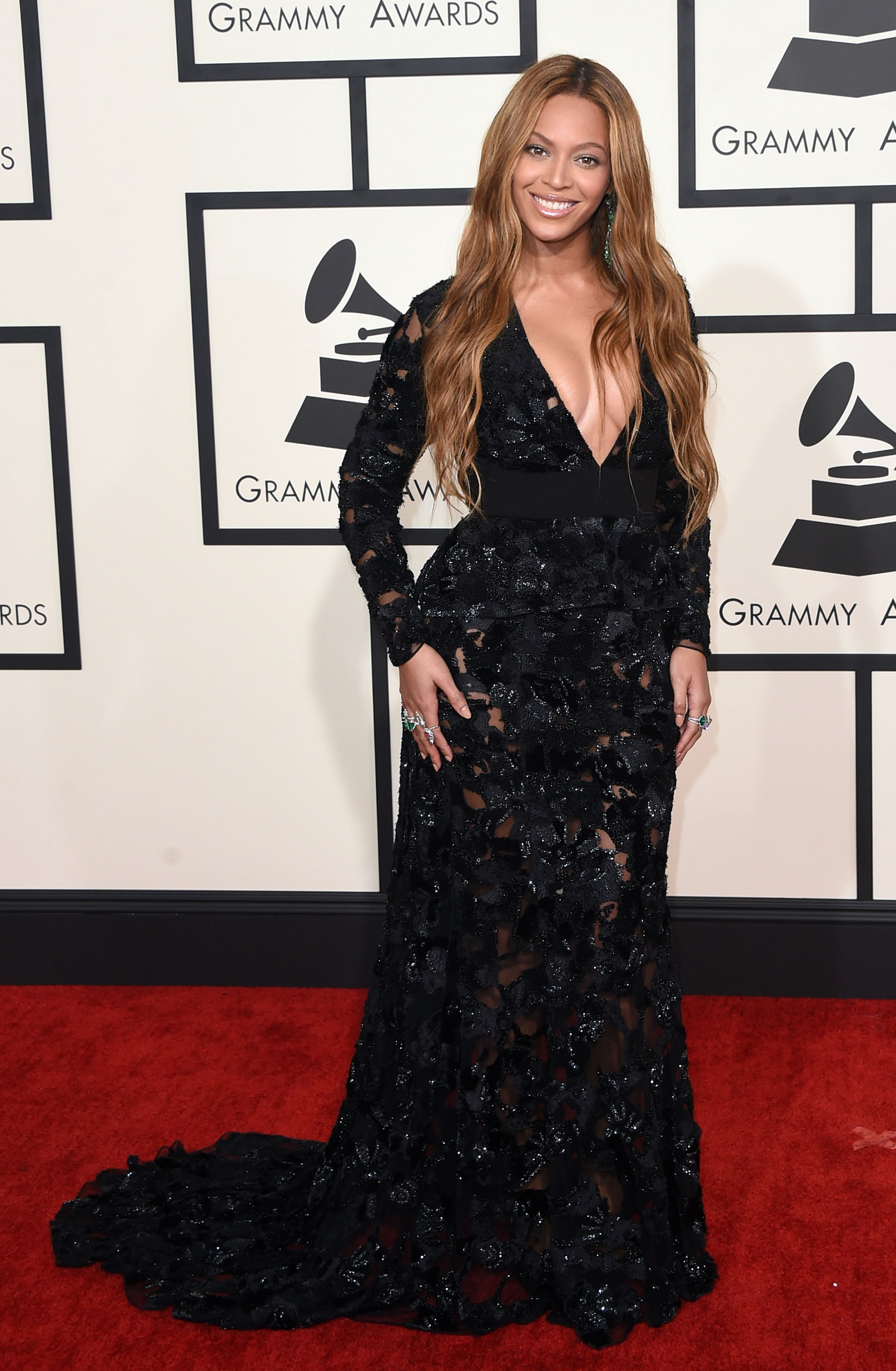 Beyonce attends the 57th Annual Grammy Awards at the Staples Center on Feb. 8, 2015 in Los Angeles, Calif.