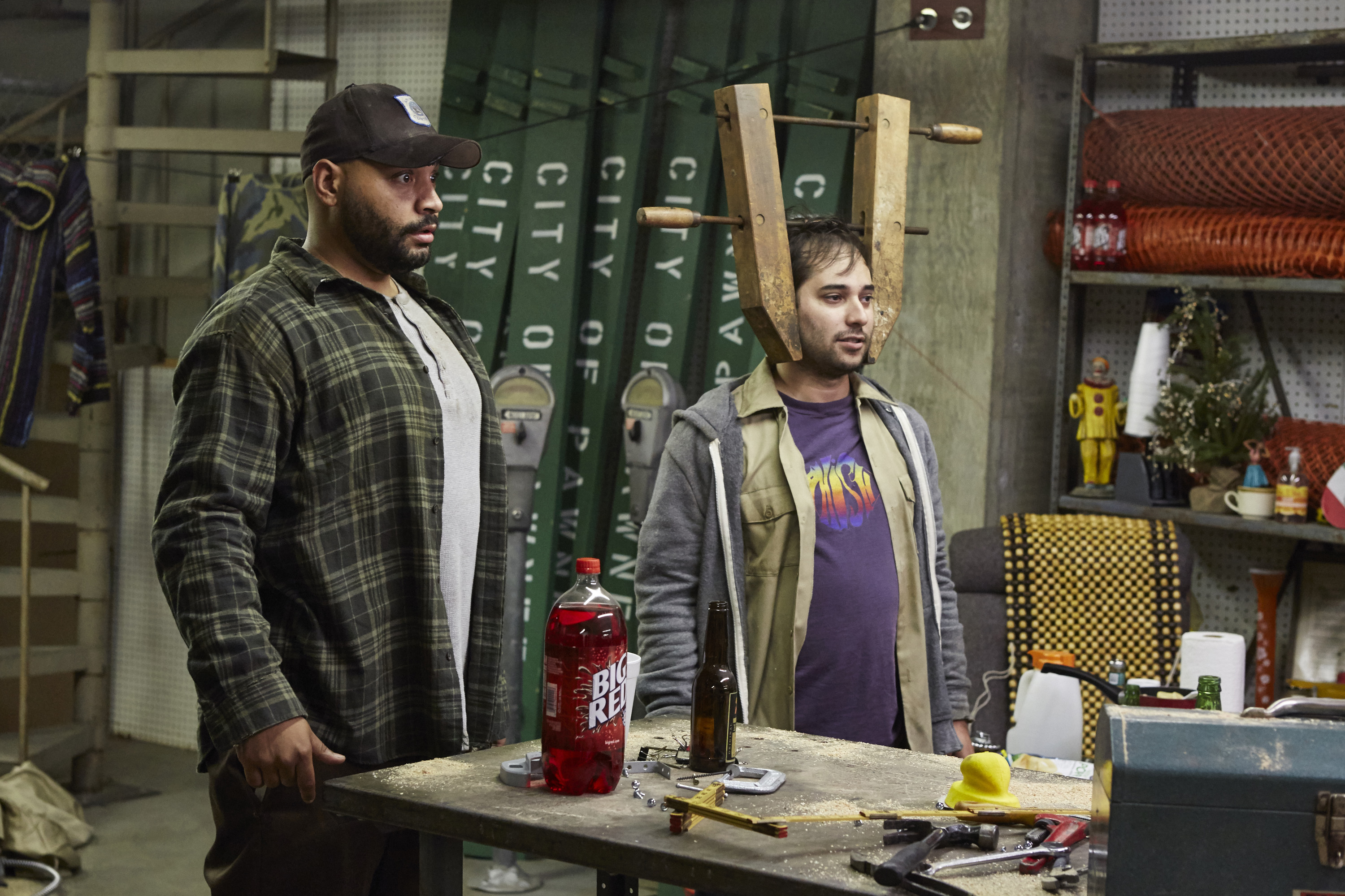 Colton Dunn (L) as Brett and Harris Wittels as Harris in the  Pie Mary  episode of  Parks and Recreation.