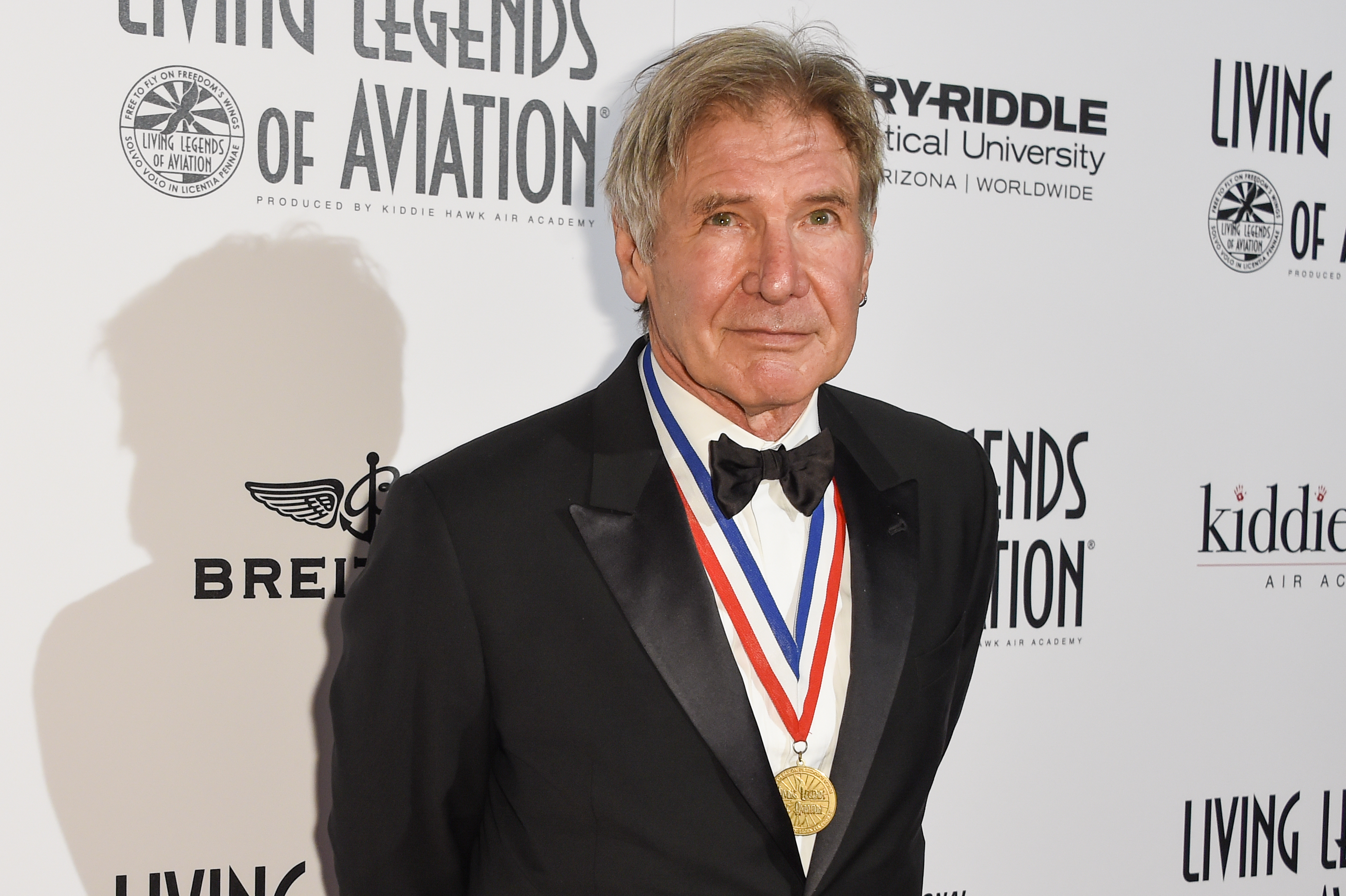 Harrison Ford attends the 12th Annual Living Legends of Aviation Awards at The Beverly Hilton Hotel on Friday, Jan 16, 2015, in Los Angeles