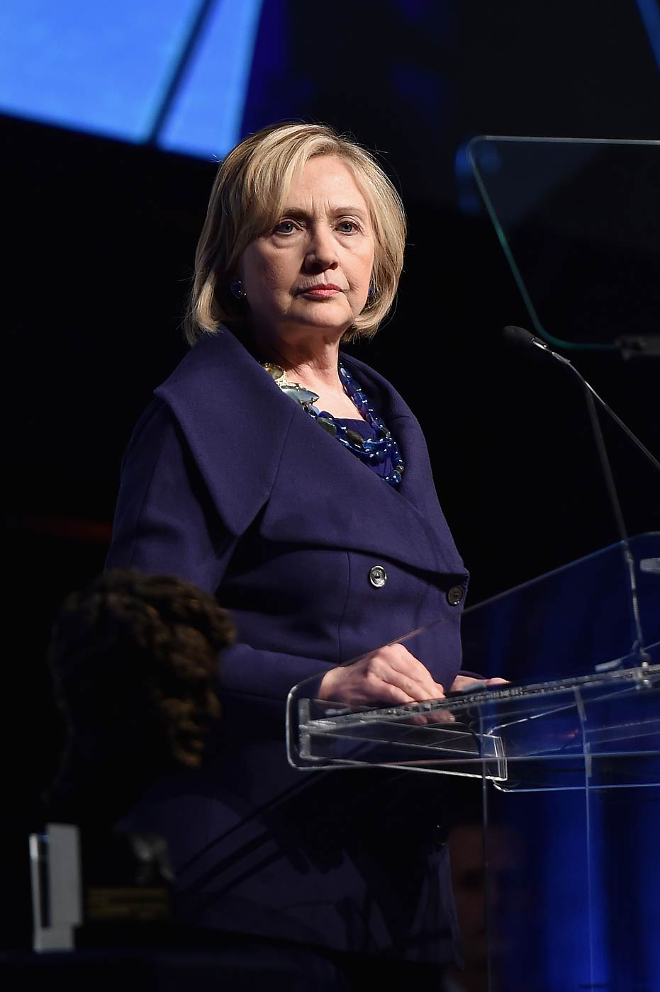 Hillary Rodham Clinton speaks onstage at the RFK Ripple Of Hope Gala at the Hilton Hotel Midtown on Dec. 16, 2014 in New York City.