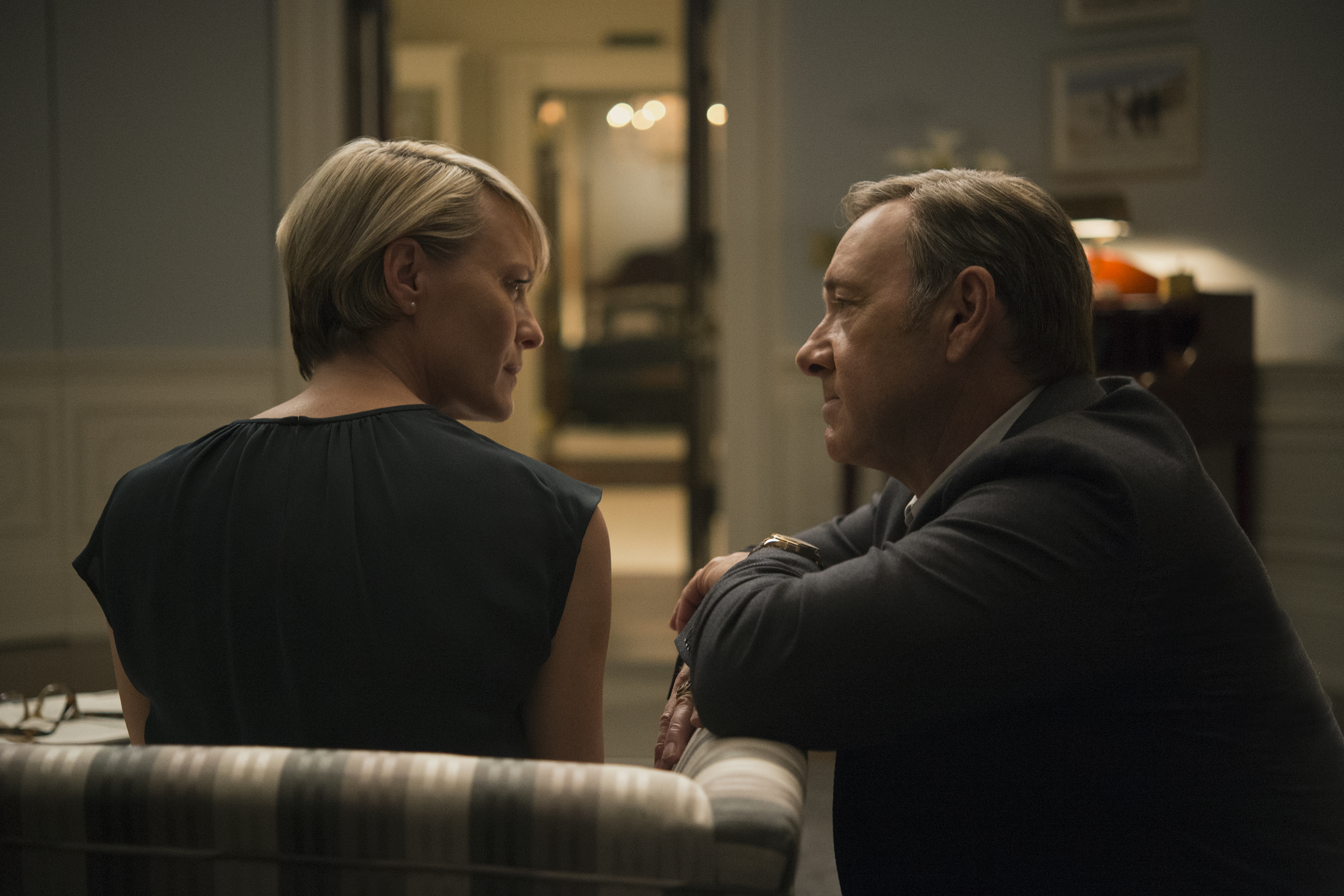 Robin Wright and Kevin Spacey in Season 3 of Netflix's House of Cards