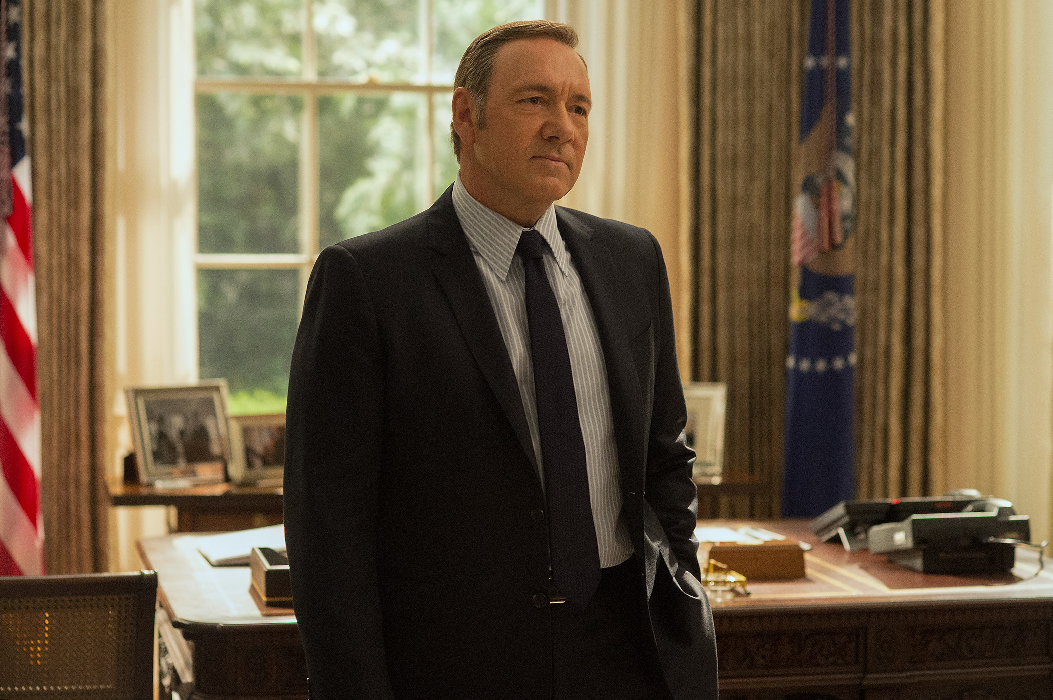 Kevin Spacey as Frank Underwood in Season 3 of House of Cards