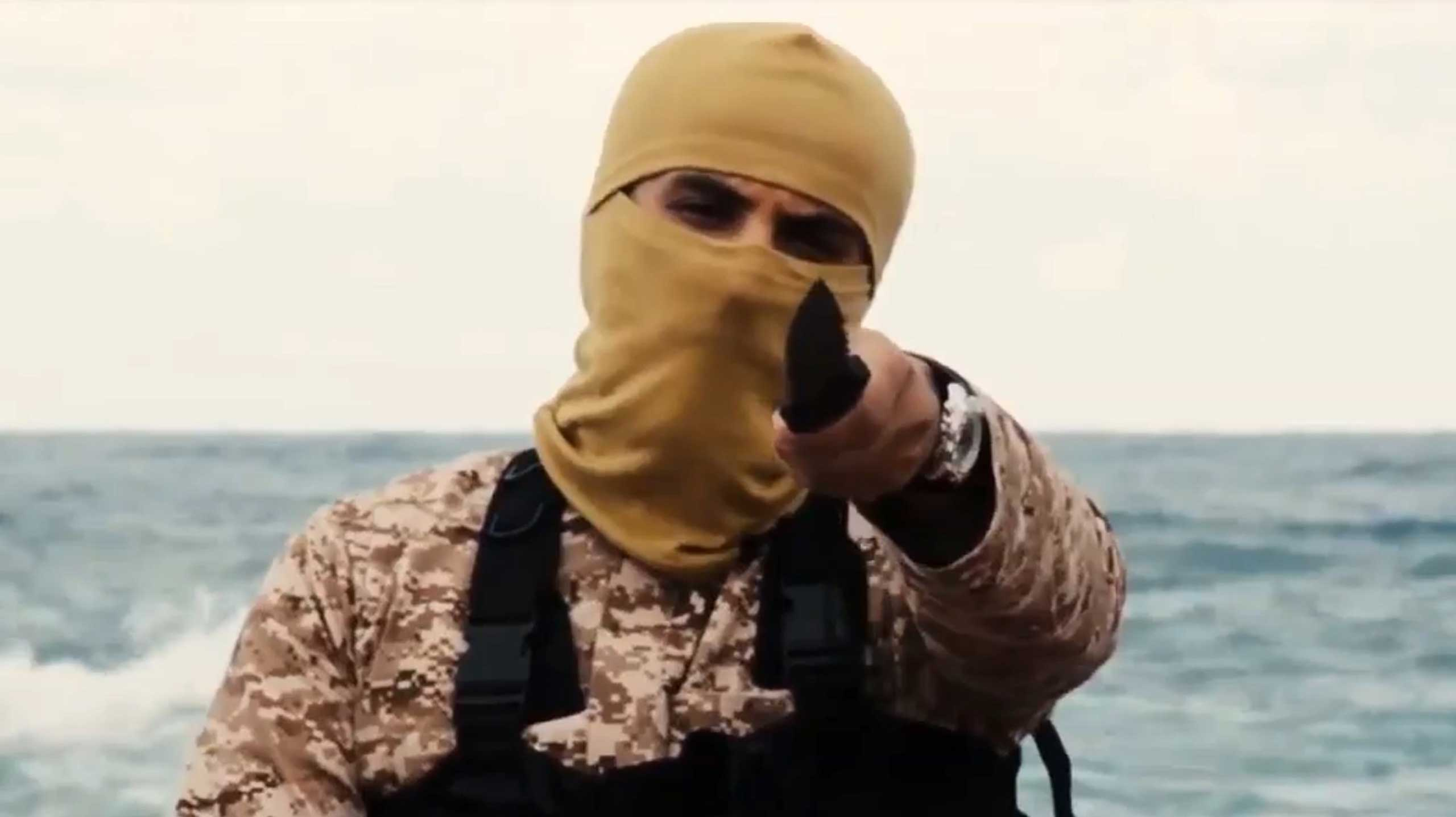 Screengrab from an ISIS video made in Libya and released on Feb. 15, 2015.