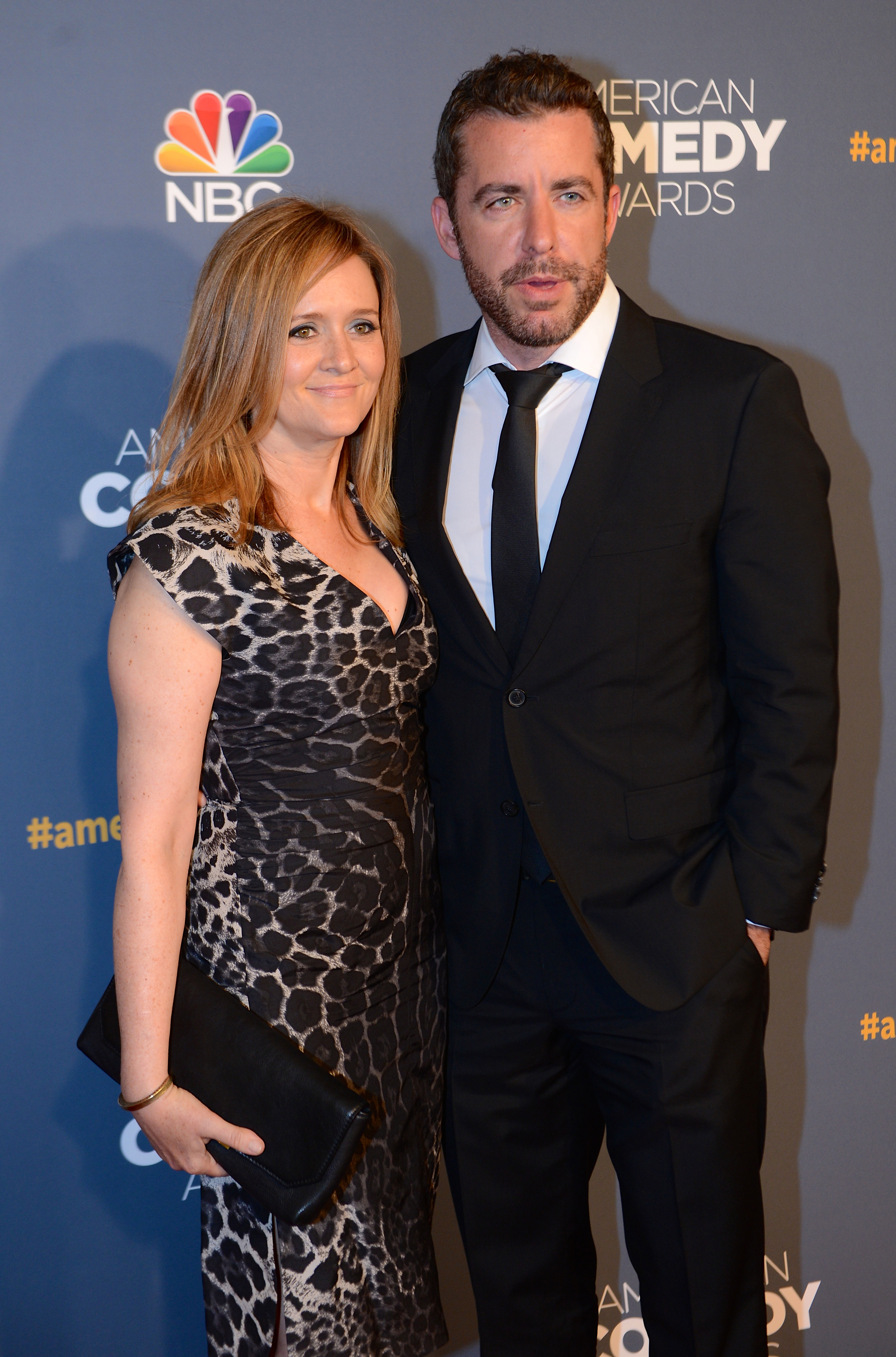 Samantha Bee and Jason Jones attend 2014 American Comedy Awards at Hammerstein Ballroom in New York City on April 26, 2014.