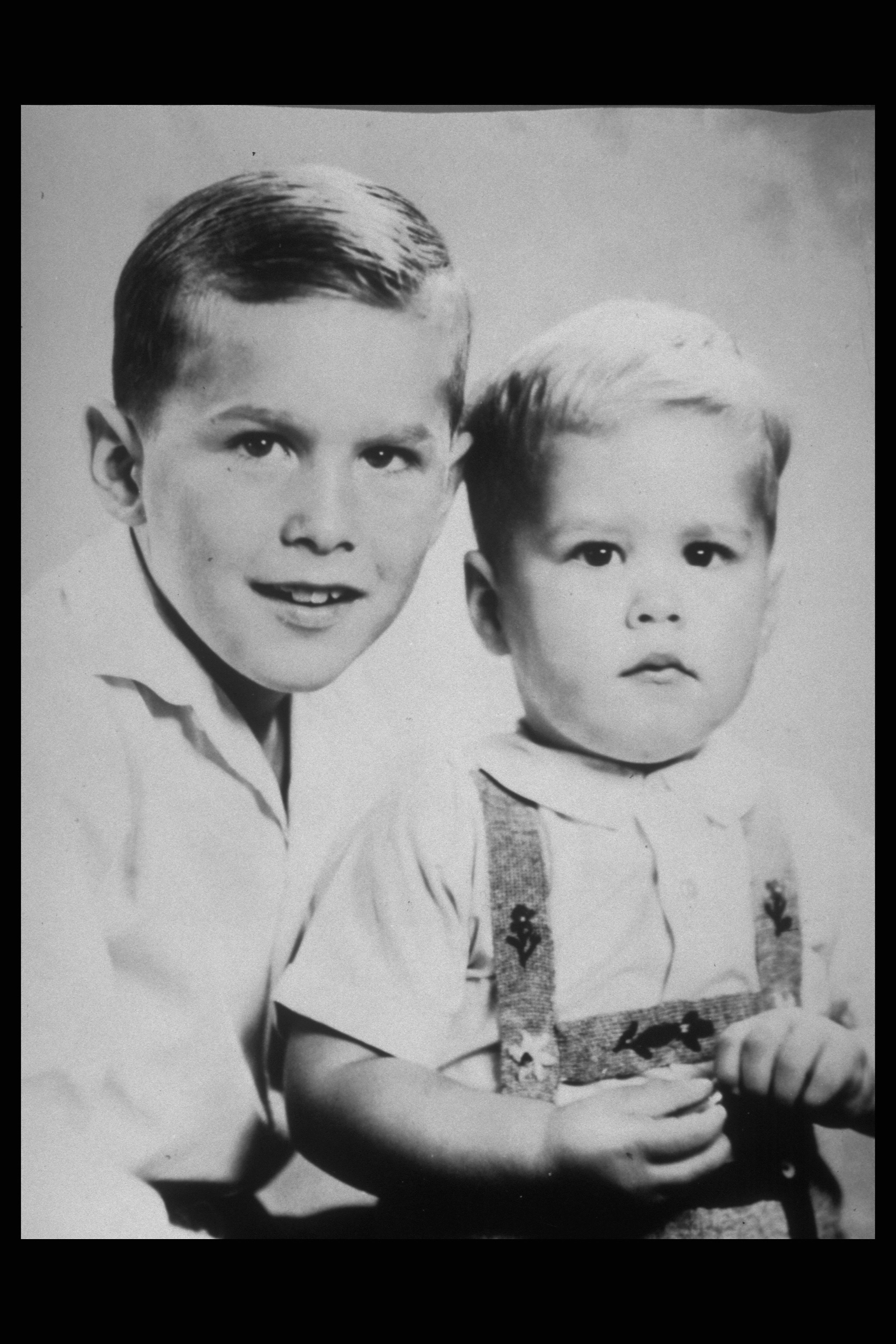 George W. Bush and Jeb Bush, Jan. 1, 1955.