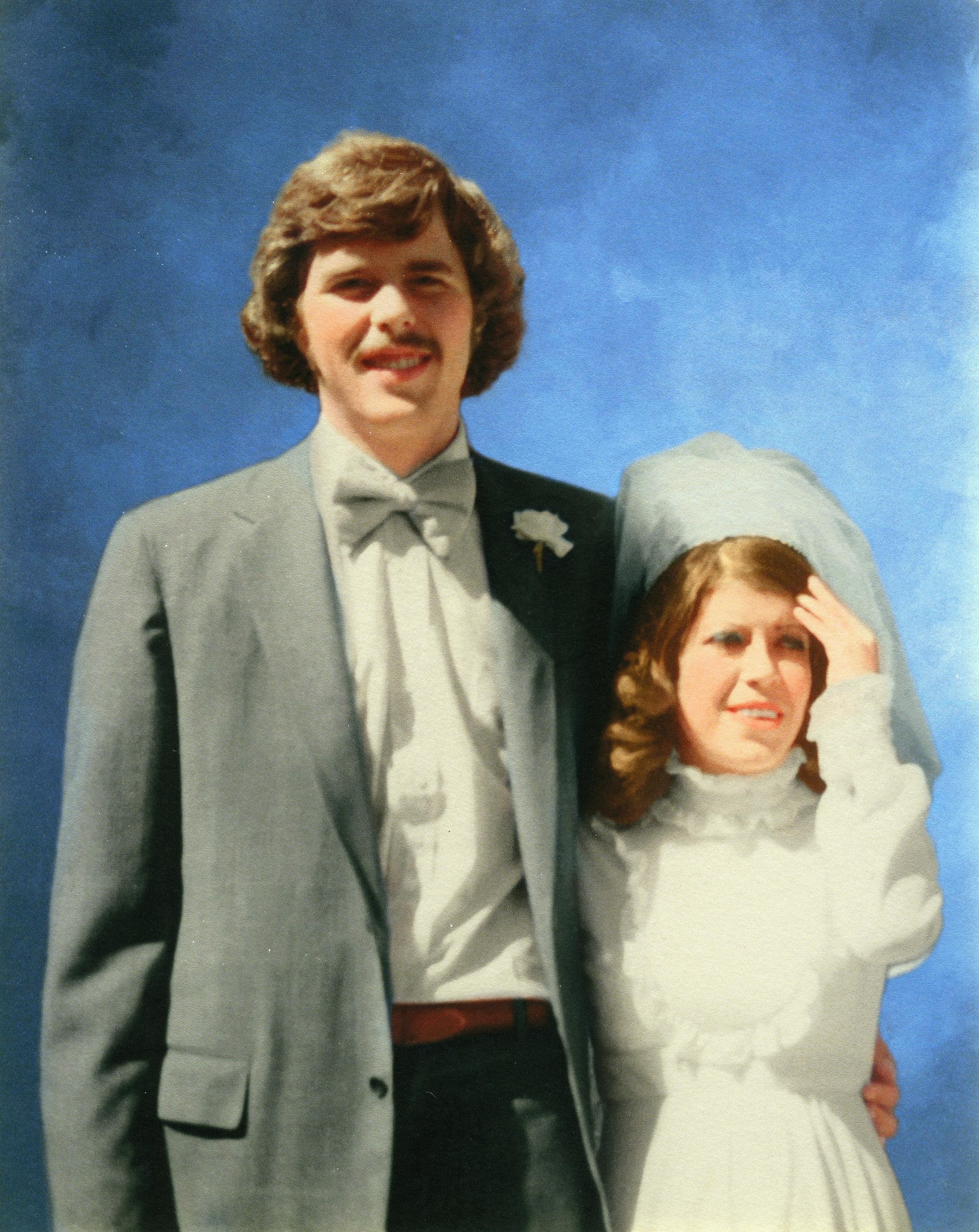 Jeb and Columba Bush on their wedding day, Feb. 23, 1974.