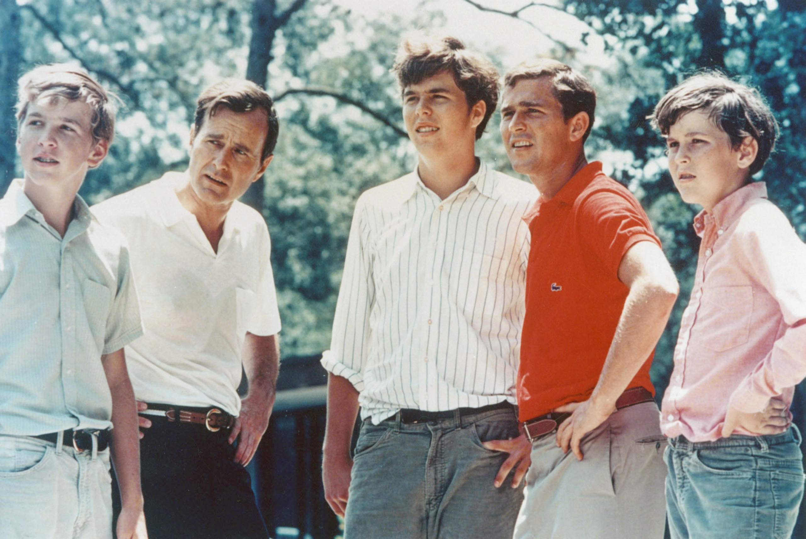 George Bush and his four sons, Neil, Jeb, George W. and Marvin in 1970.