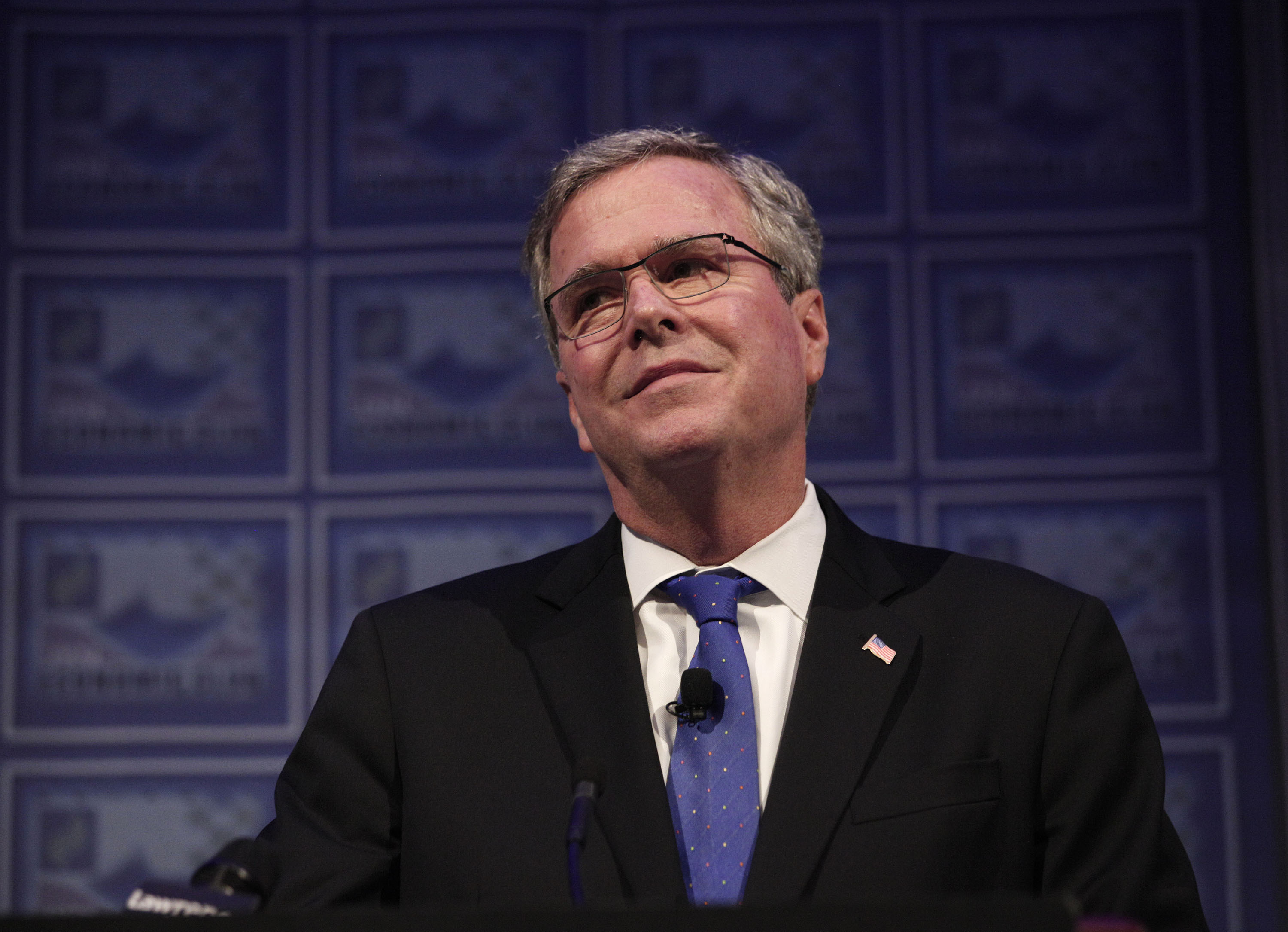 Former Florida Governor Jeb Bush speaks at the Detroit Economic Club on Feb. 4, 2015 in Detroit.