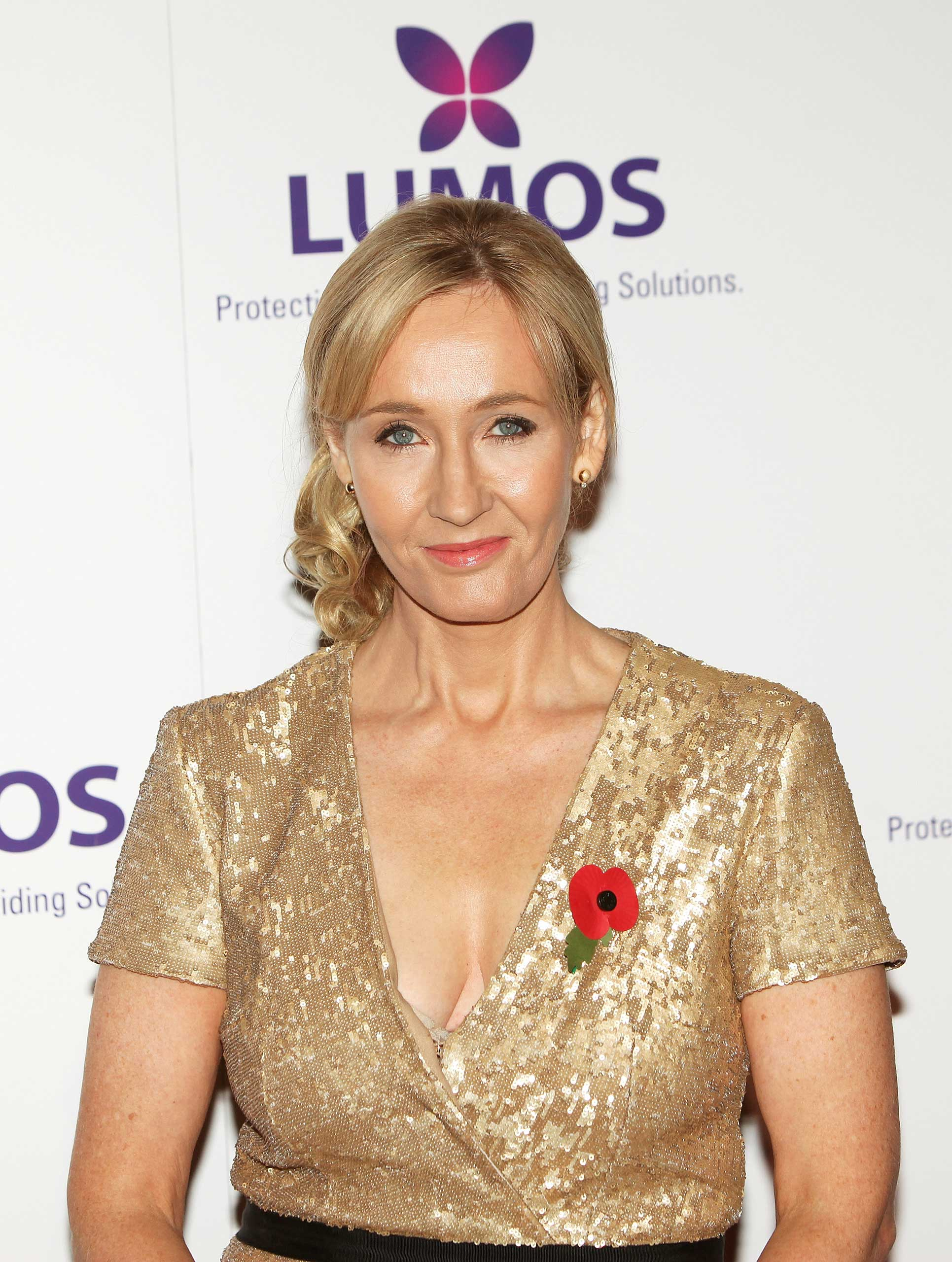 J.K. Rowling attends the Lumos fundraising event hosted by J.K. Rowling at The Warner Bros. Harry Potter Tour on November 9, 2013 in London, England.