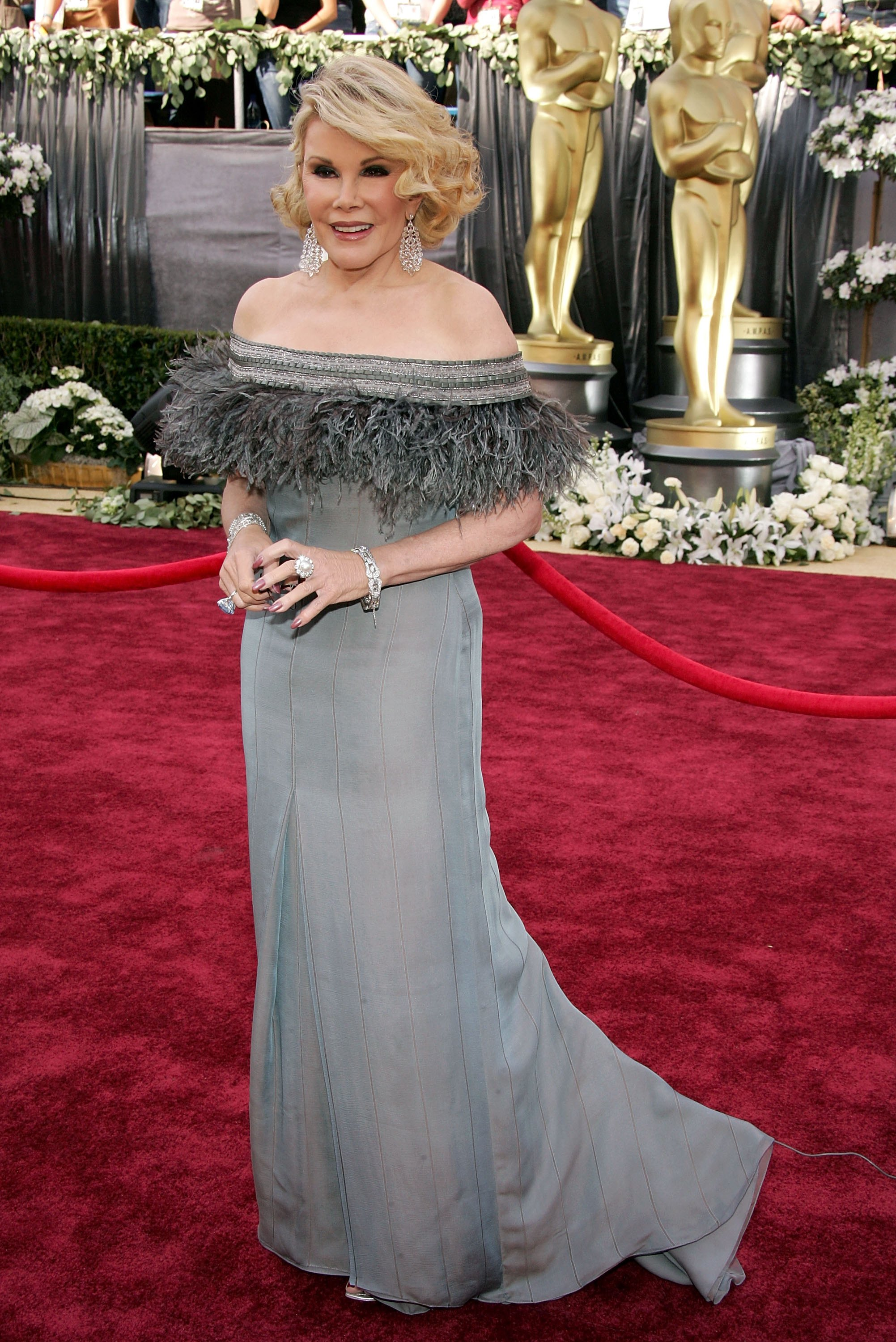 Television host Joan Rivers arrives to the 78th Annual Academy Awards at the Kodak Theatre on March 5, 2006 in Hollywood.