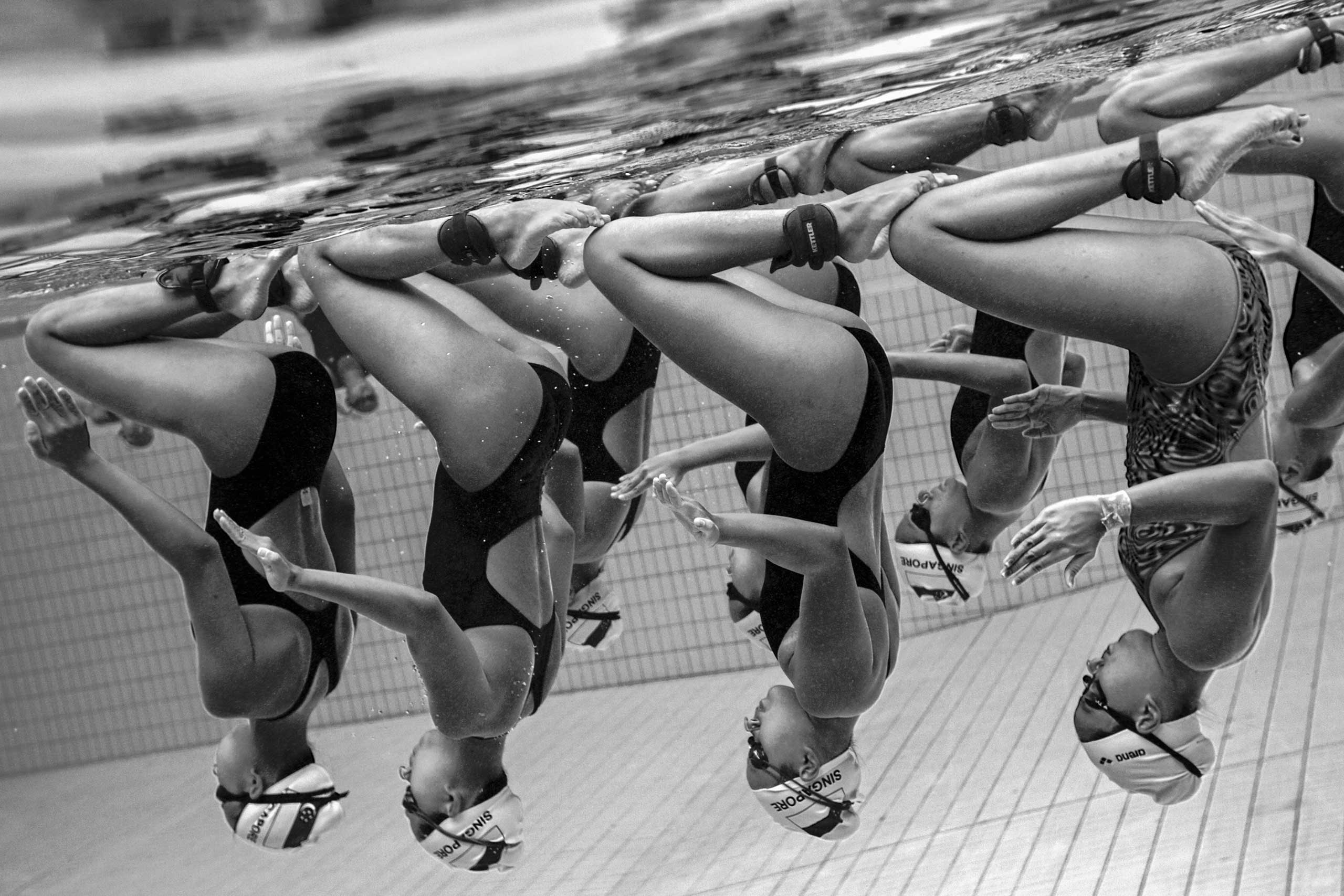 Nominated in the Sport category. Jonathan Yeap Chin Tiong's work on synchronized swimming in Singapore.